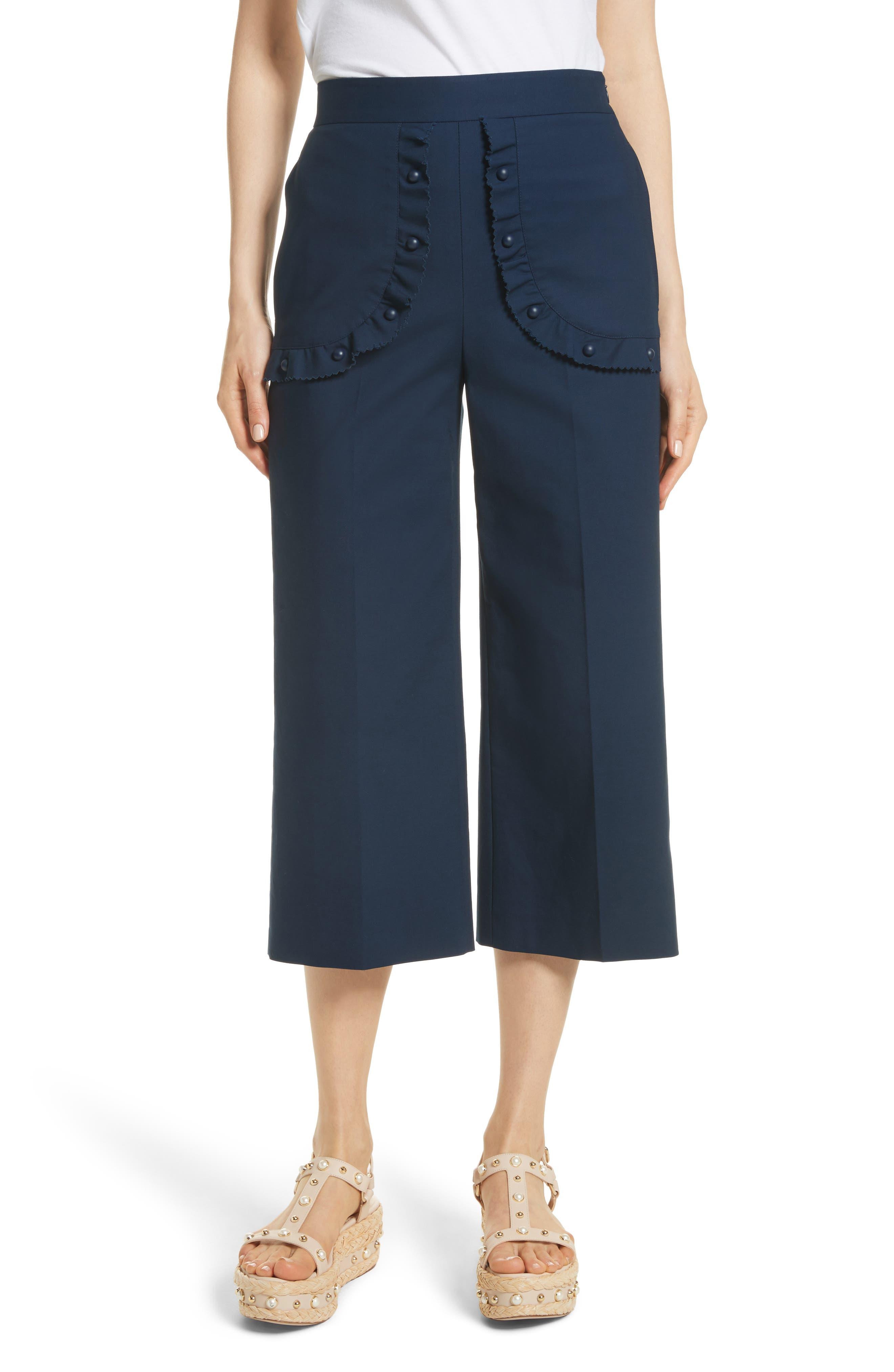 RED Valentino Ruffle Pocket Crop Pants