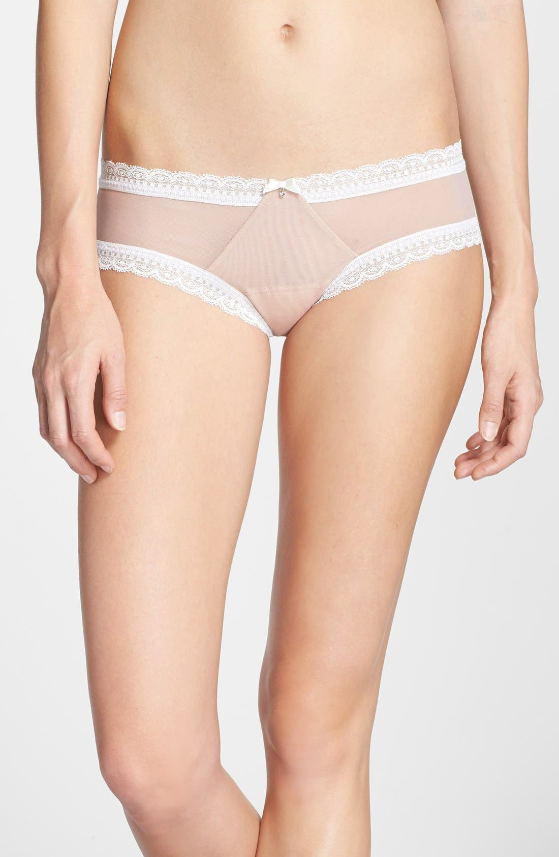 Main Image - Hanky Panky 'Sheer Delight' Cheeky Hipster Briefs
