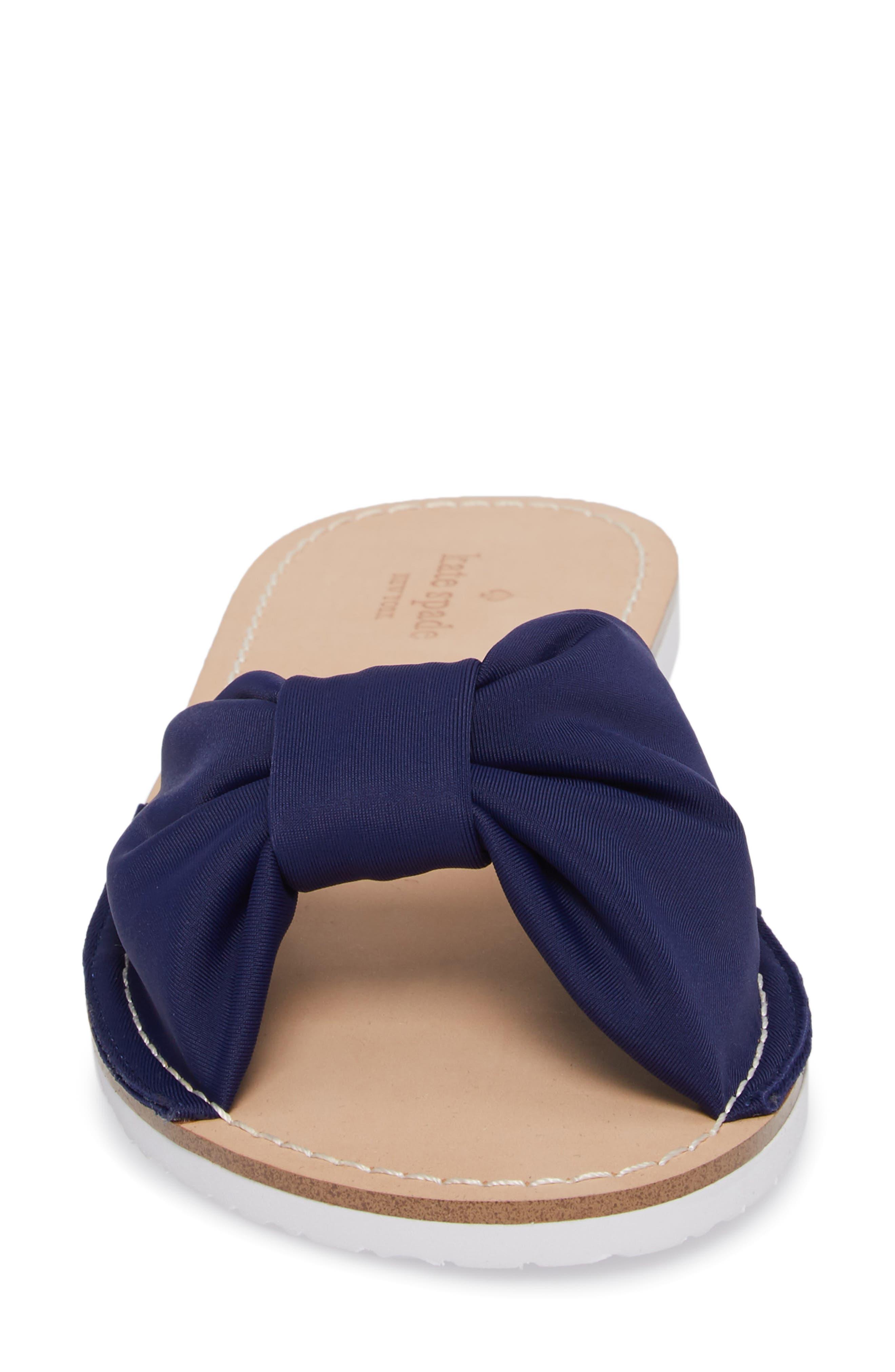 indi slide sandal,                             Alternate thumbnail 4, color,                             Blue