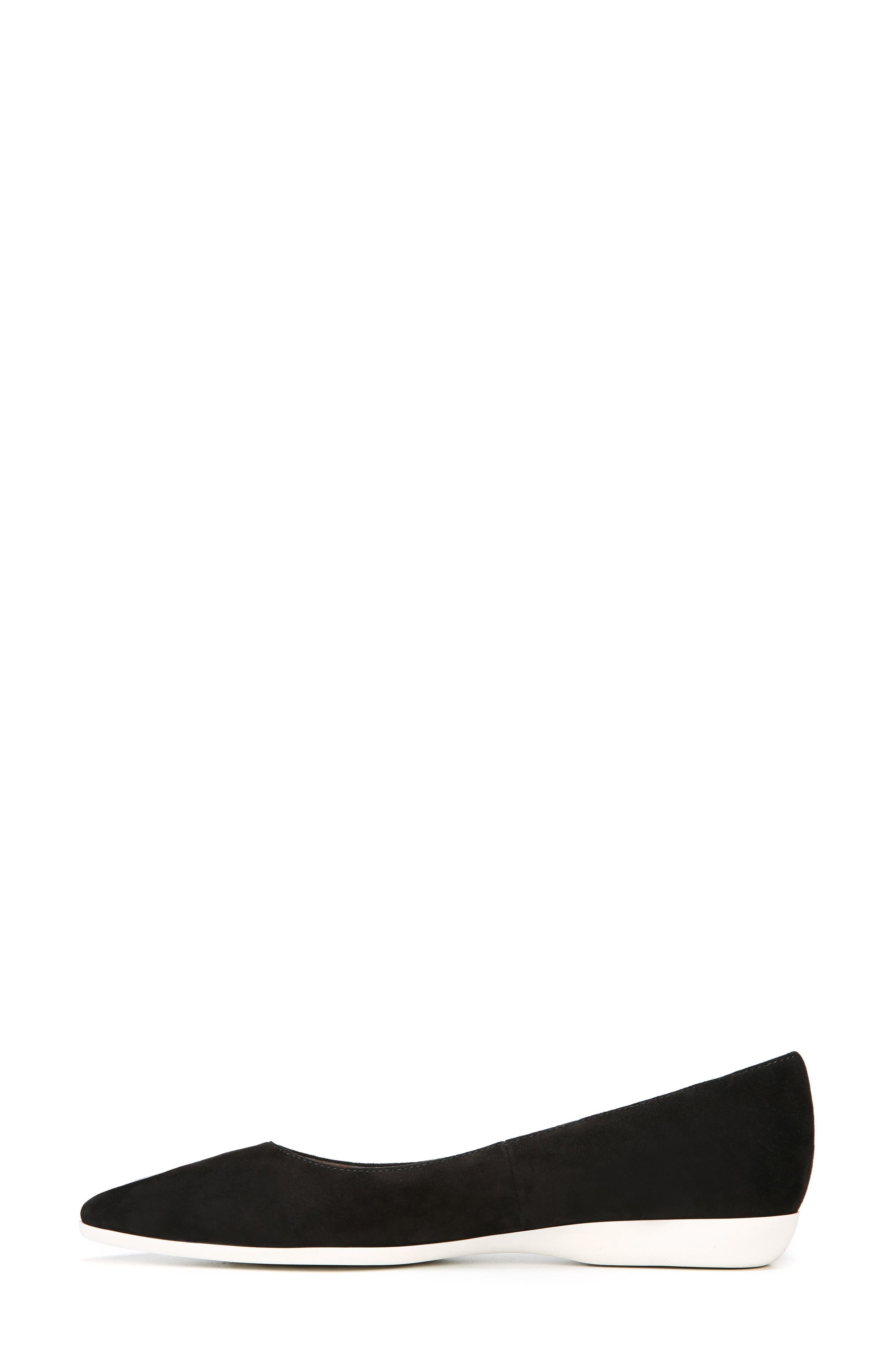Dexie Pointy Toe Flat,                             Alternate thumbnail 5, color,                             Black Suede