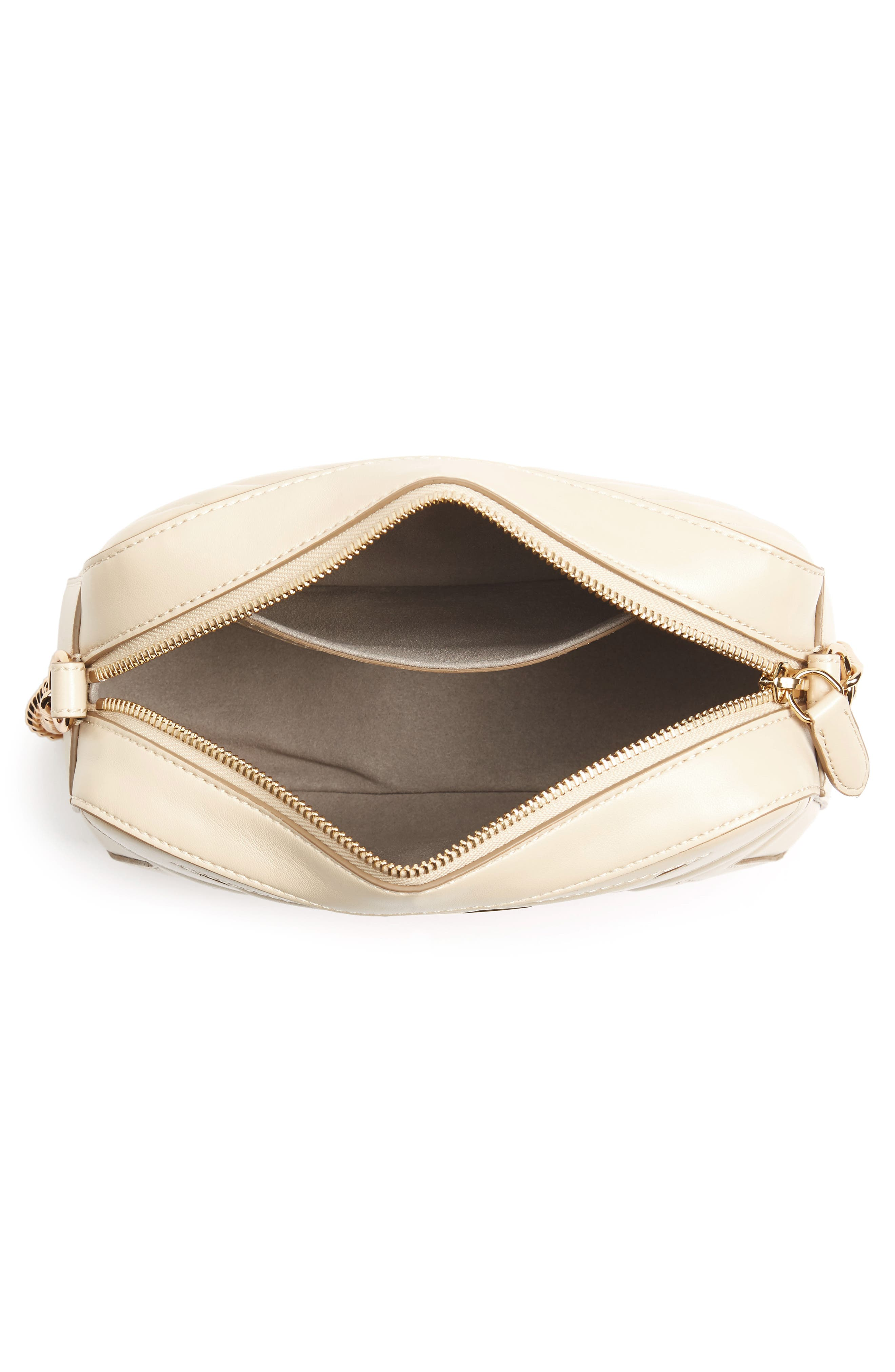 Alter Nappa Faux Leather Shoulder Bag,                             Alternate thumbnail 6, color,                             Cream