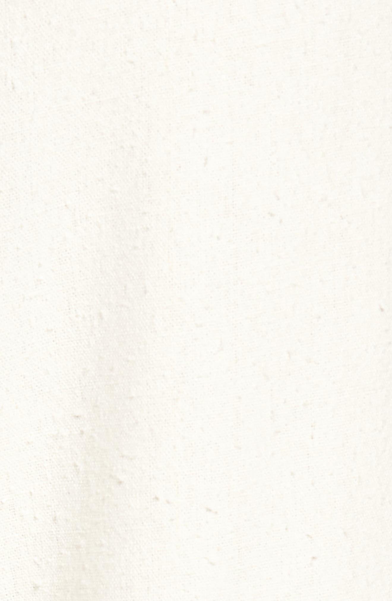 High Waist Crop Silk Beach Pants,                             Alternate thumbnail 6, color,                             Pristine