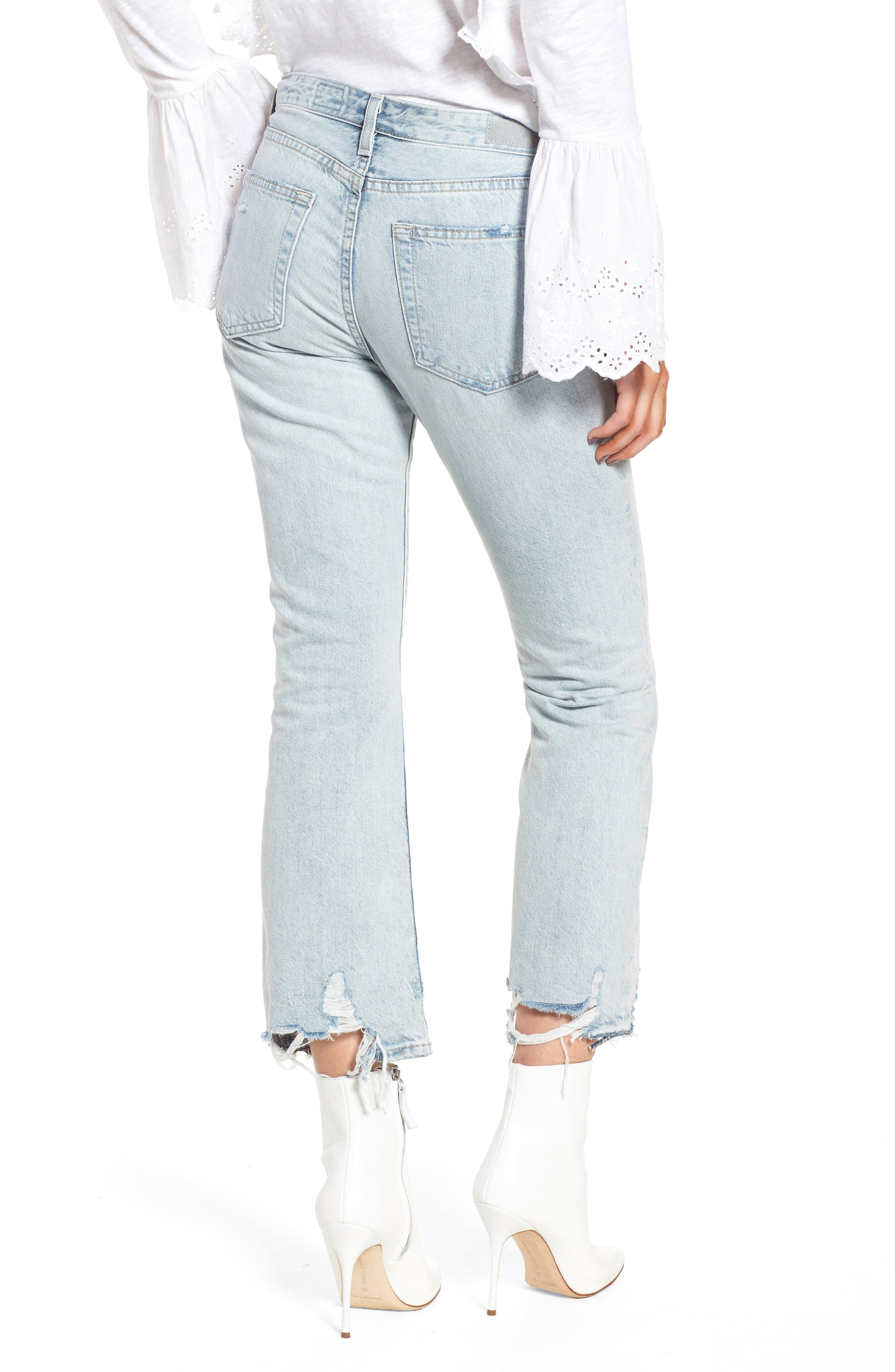 Alternate Image 2  - AG Jeans Jodi Crop Jeans (Bering Wave)