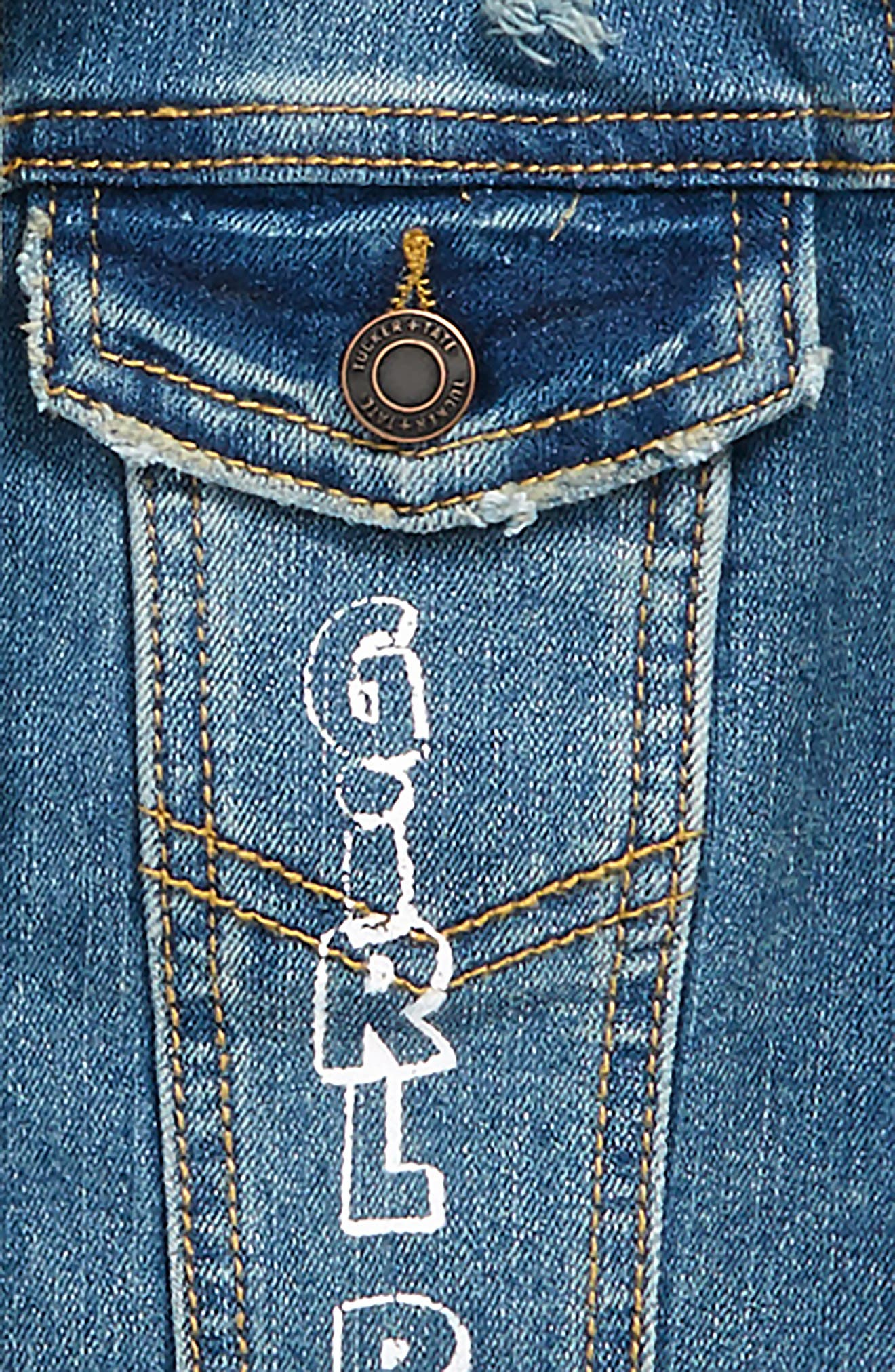 Alternate Image 3  - Tucker + Tate Conversational Denim Jacket (Big Girls)