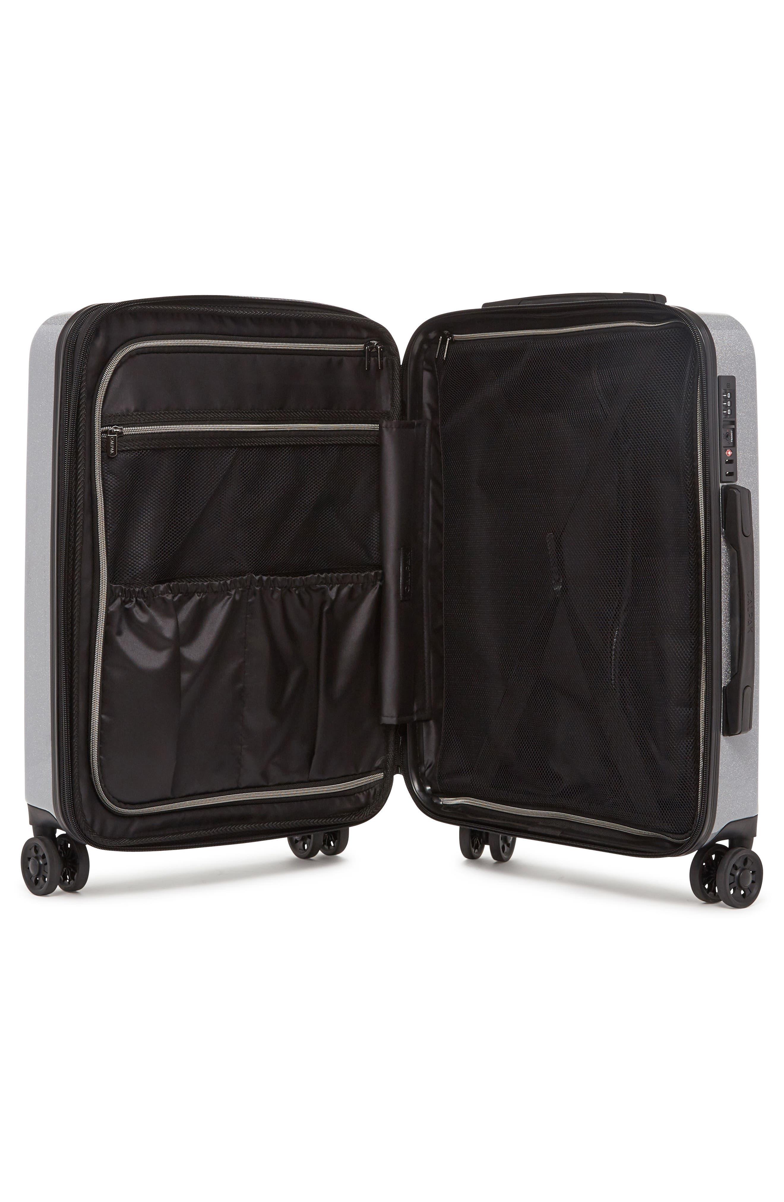 Medora Glitter 28-Inch & 20-Inch Hardshell Spinner Suitcase & Carry-On Set,                             Alternate thumbnail 3, color,                             Silver Stardust
