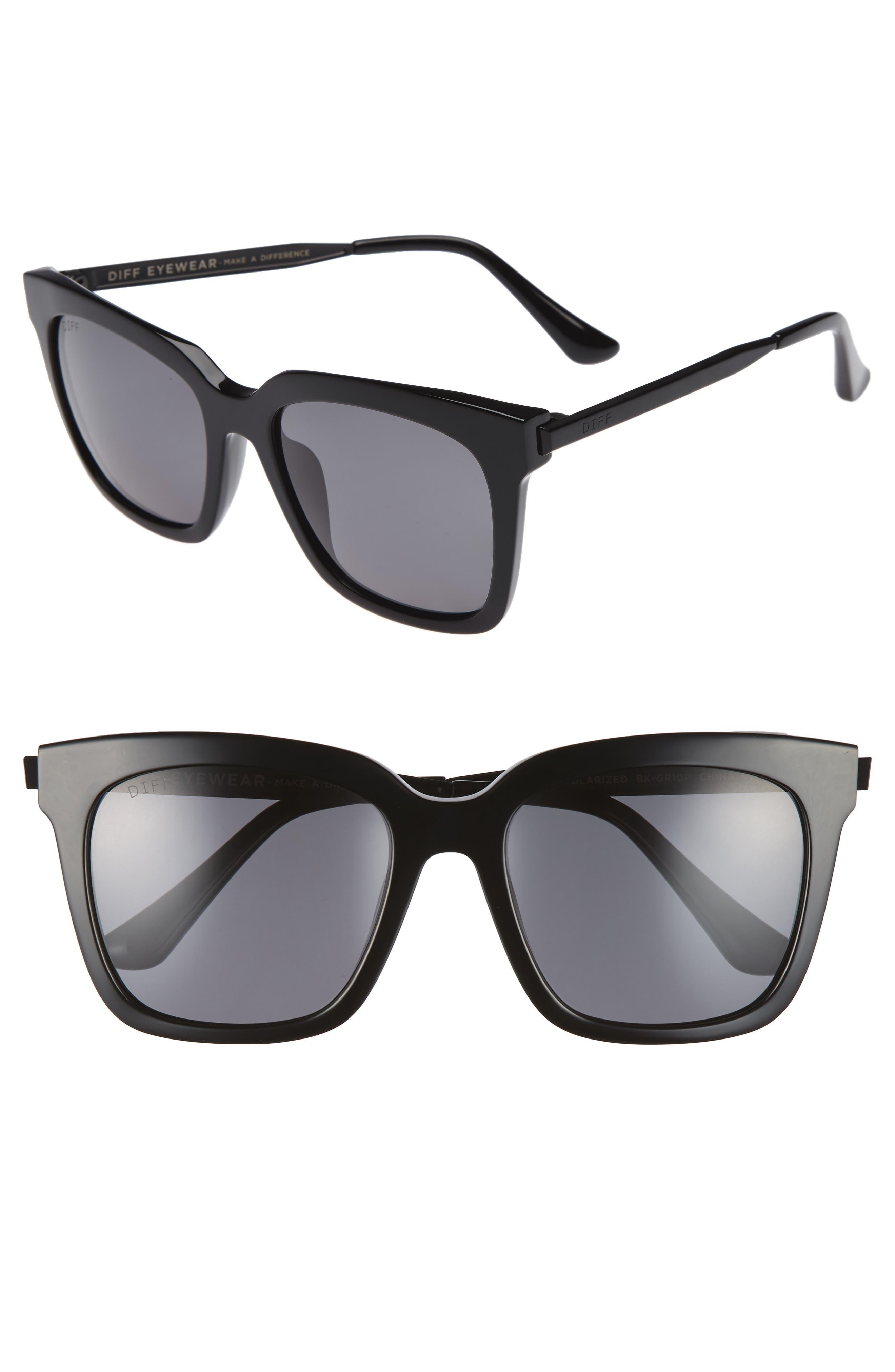 DIFF Bella 53mm Polarized Sunglasses