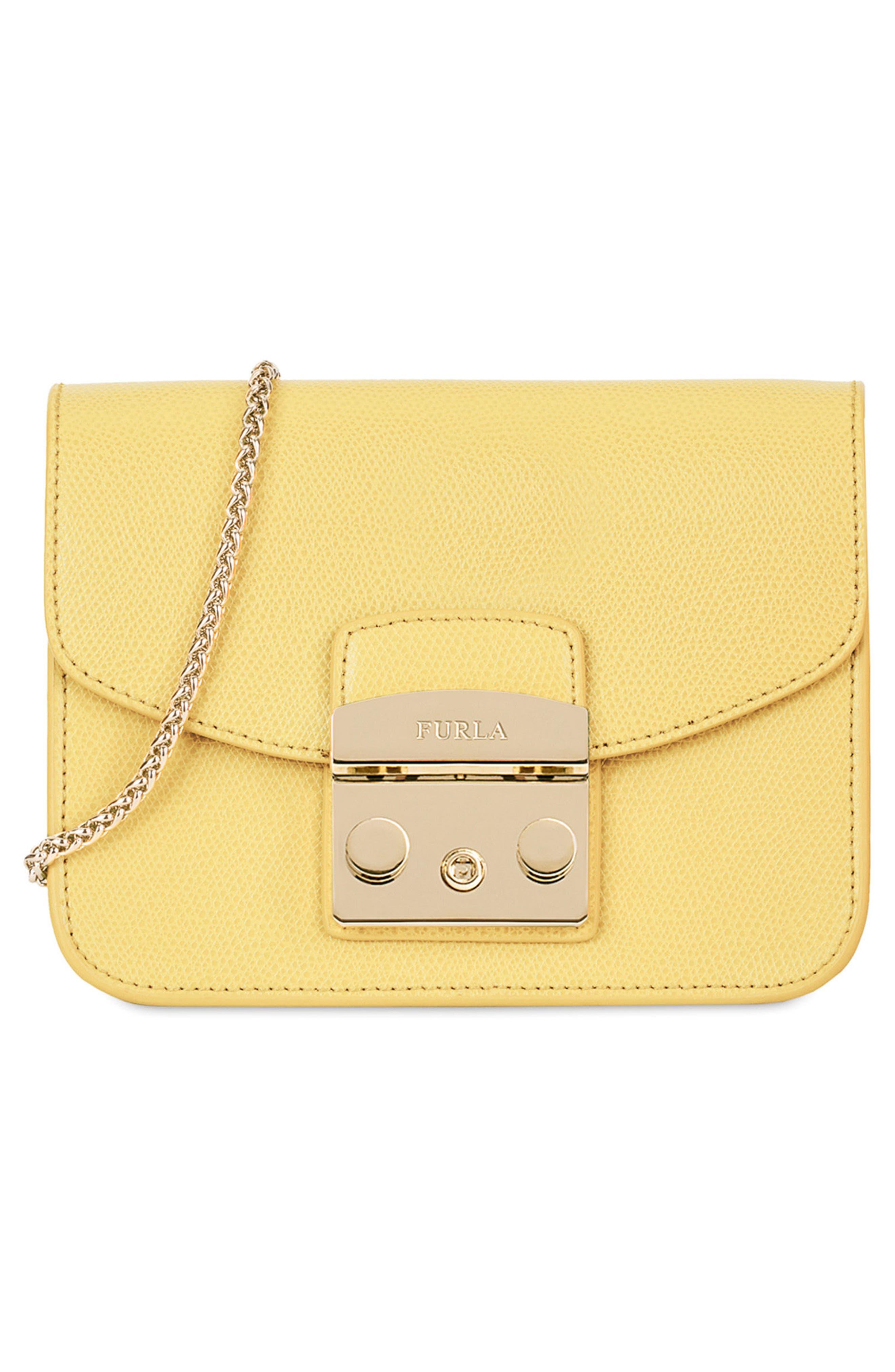 Main Image - Furla Mini Metropolis Leather Crossbody Bag