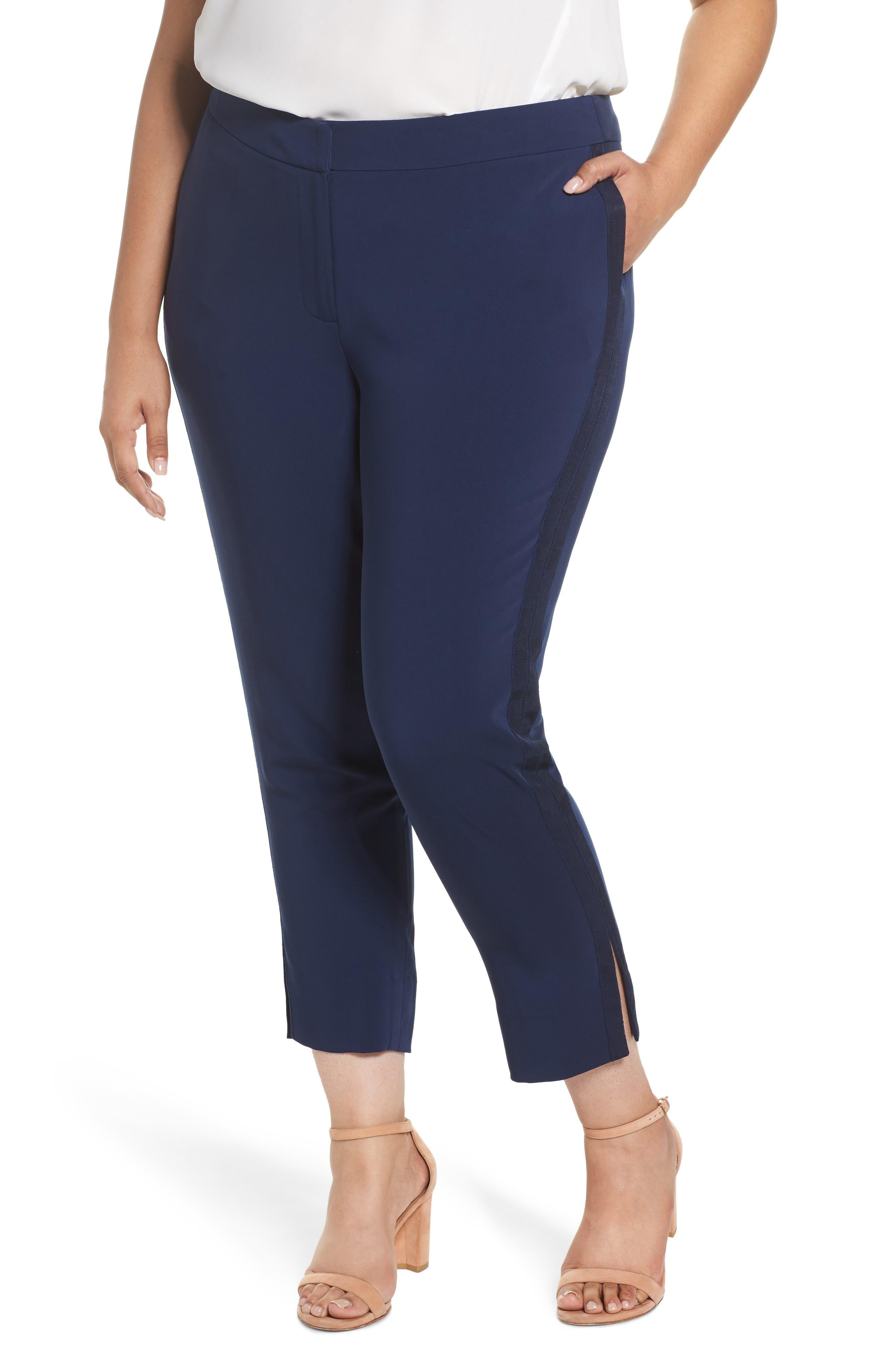 Sejour Side Slit Pants (Plus Size)