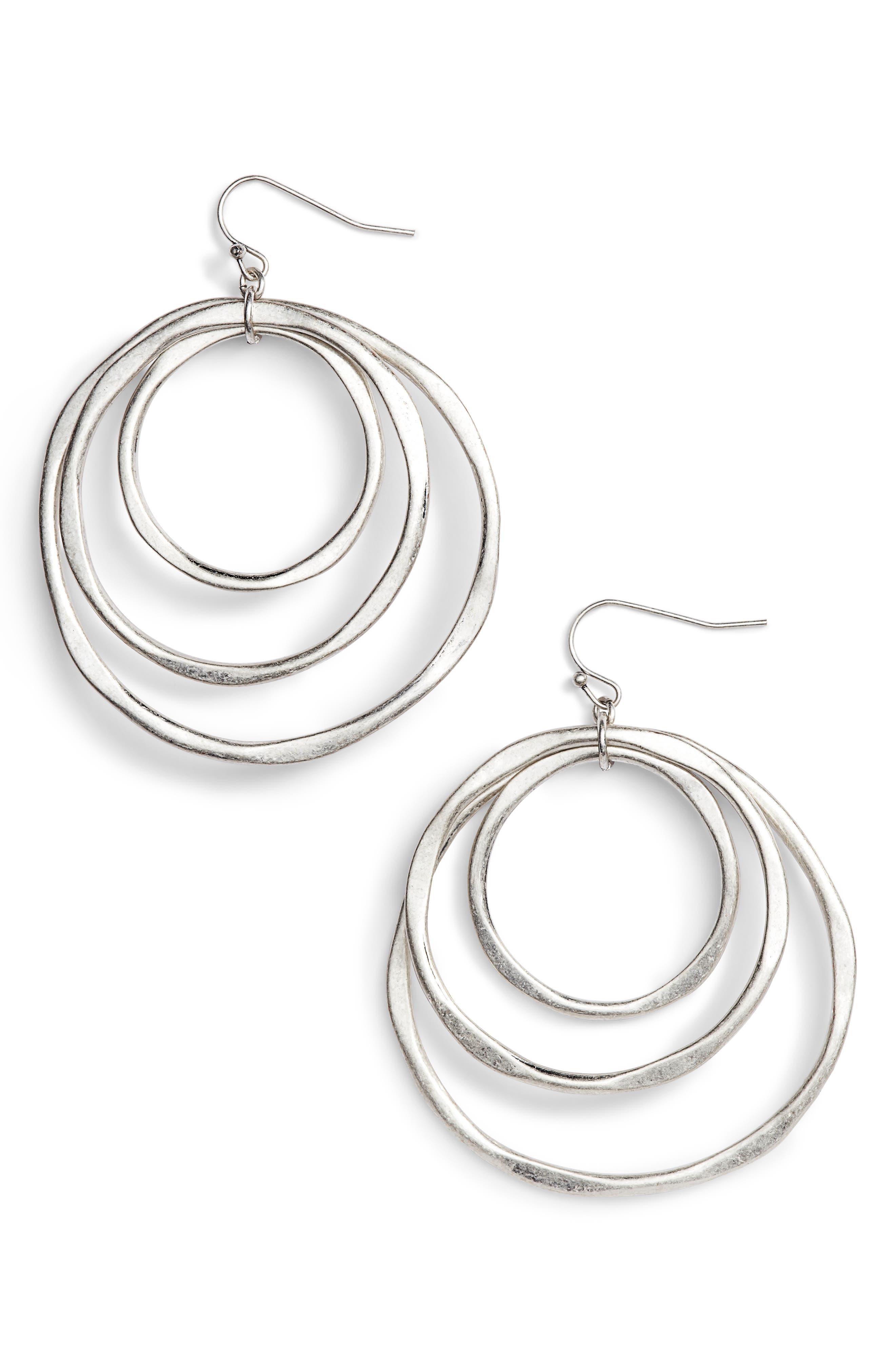 Alternate Image 1 Selected - Treasure & Bond Triple Orbit Hoop Earrings