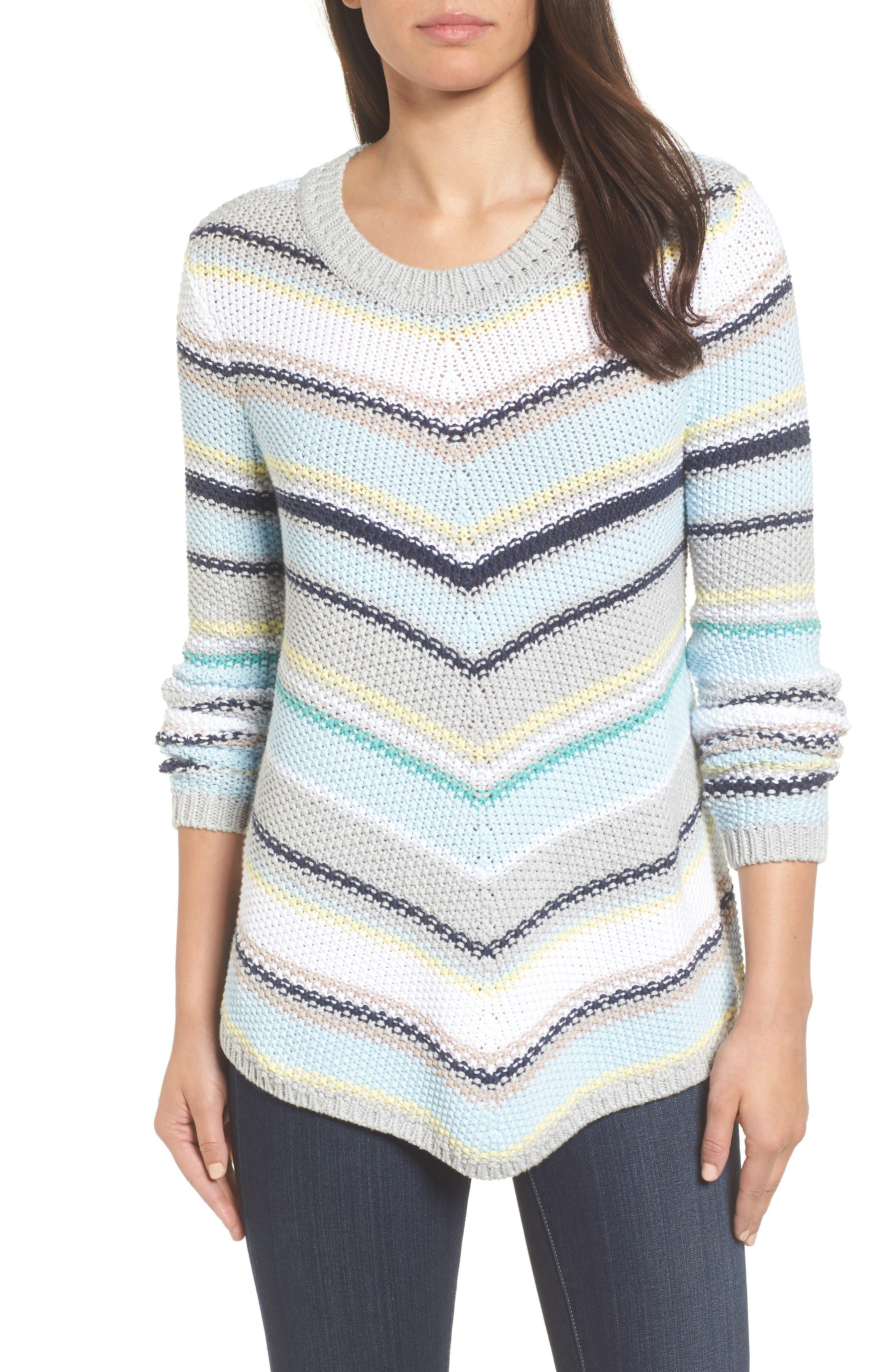 Caslon® Stitch Stripe Sweater (Regular & Petite)