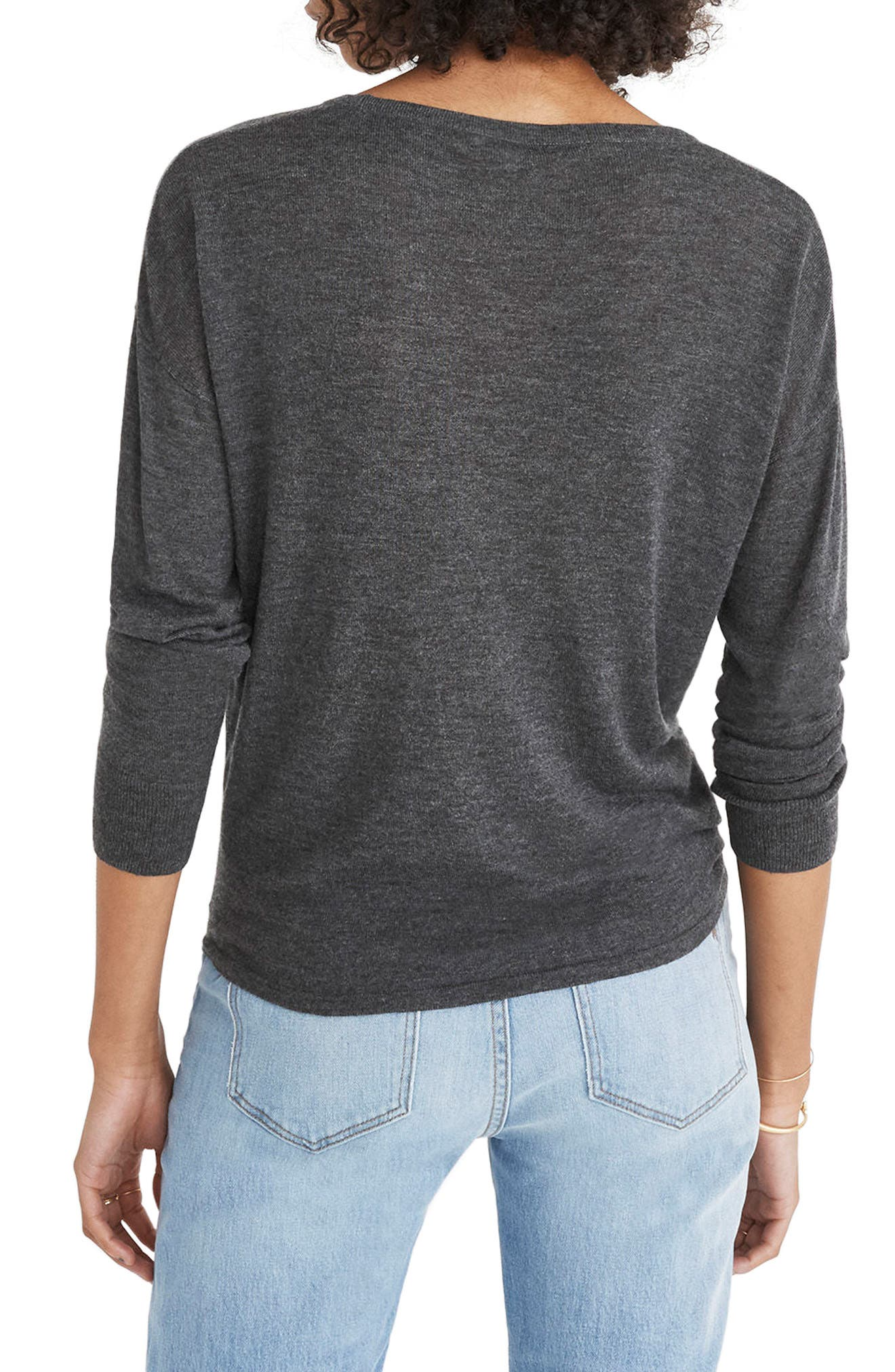 Alternate Image 2  - Madewell Modern Tie Front Sweater