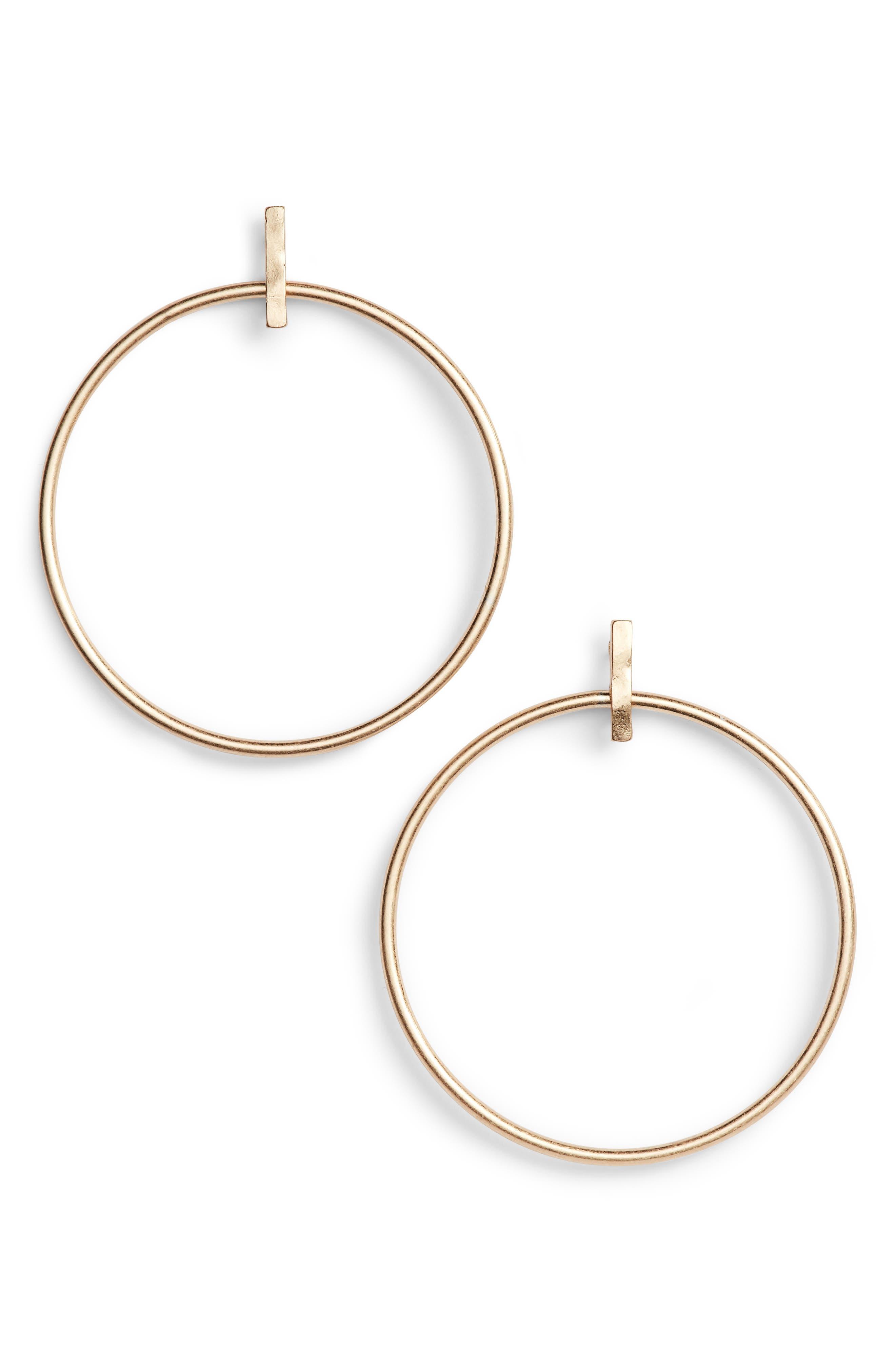 Main Image - Treasure & Bond Bar & Hoop Earrings