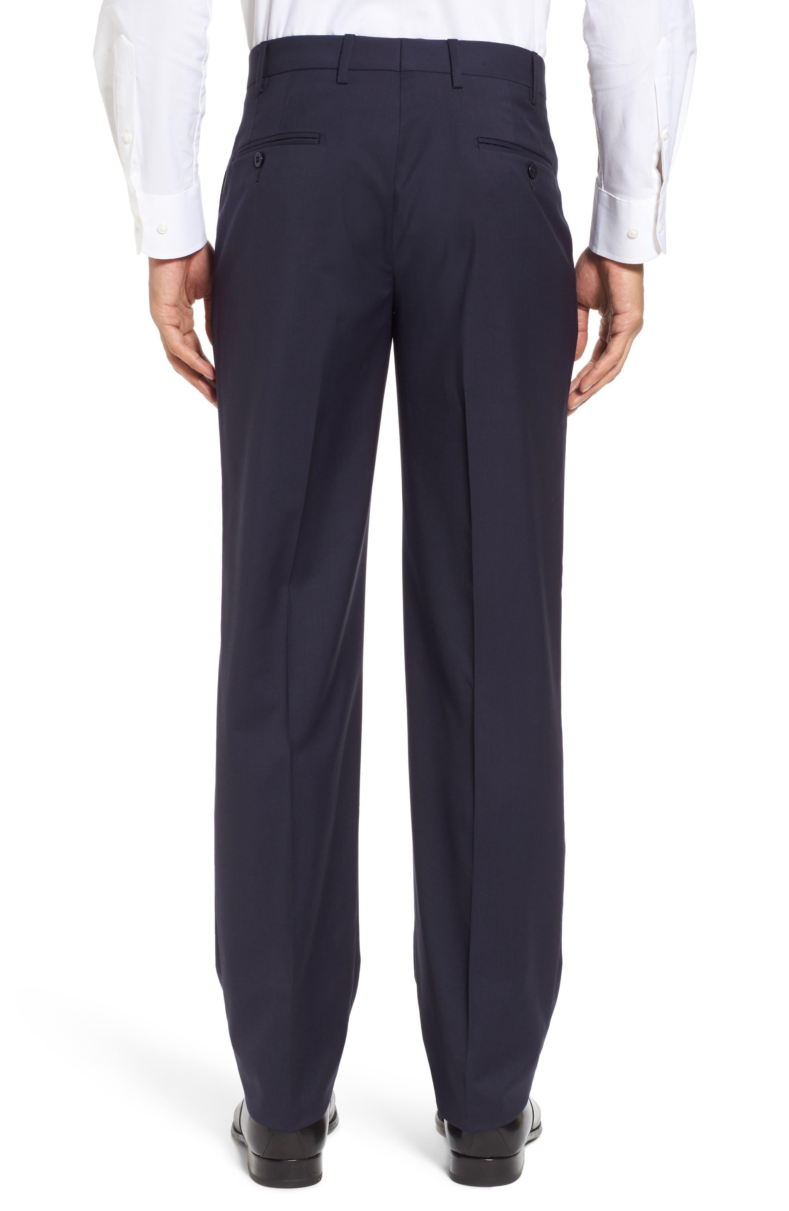 Alternate Image 2  - Zanella Devon Flat Front Solid Wool Serge Trousers