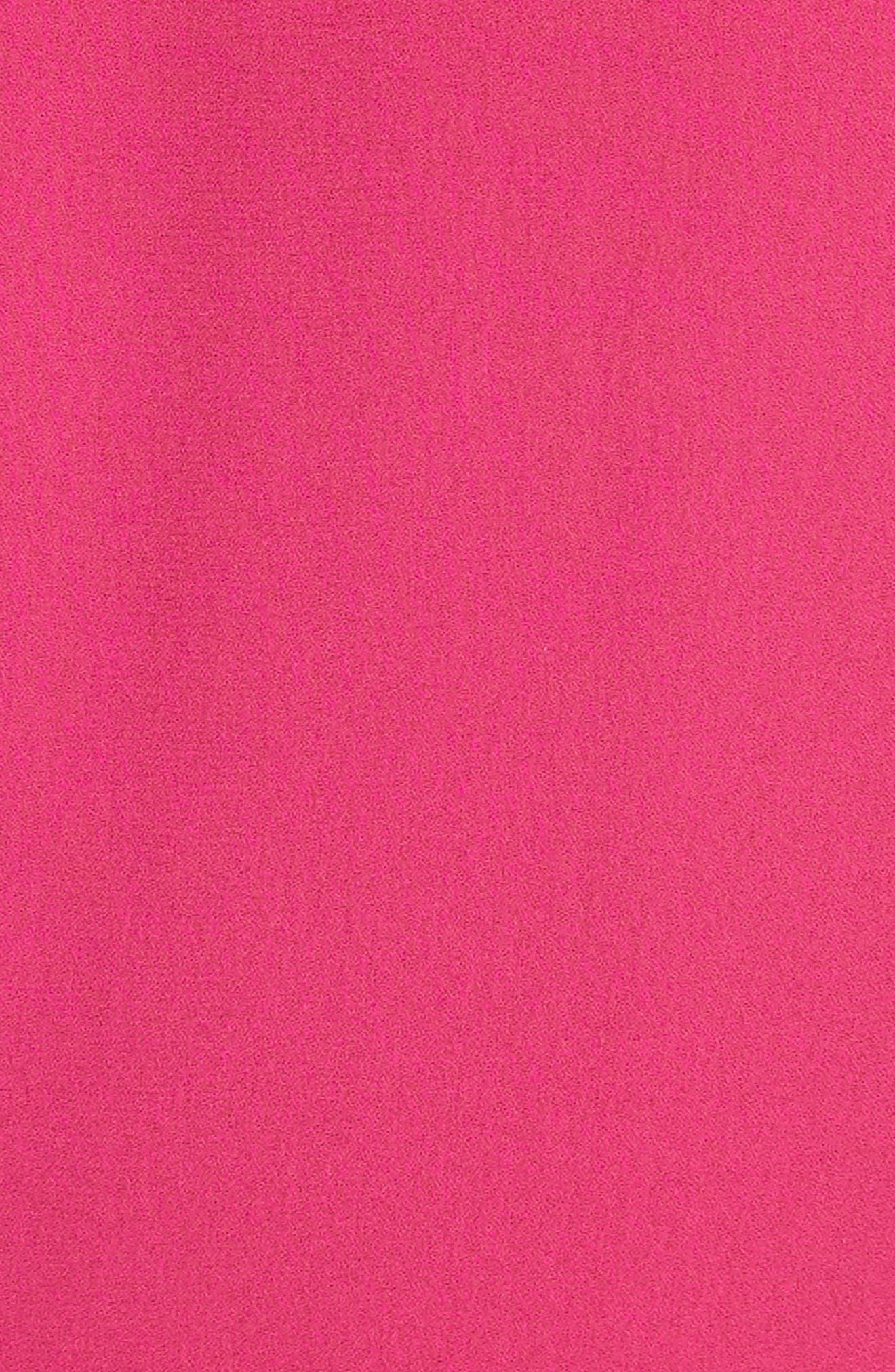 Gathered Silk Dress,                             Alternate thumbnail 6, color,                             Hibiscus