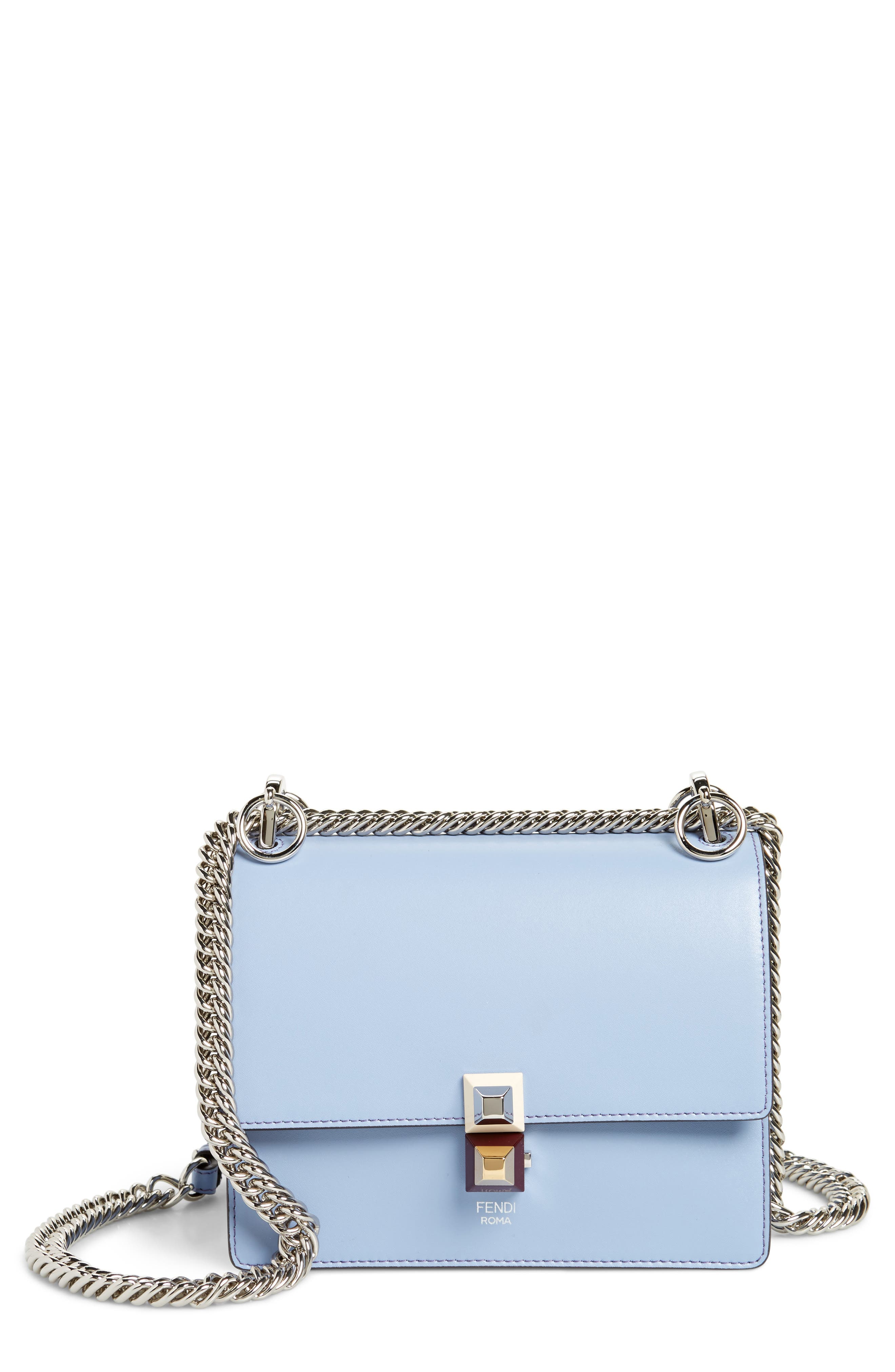 Fendi Mini Kan I Leather Shoulder Bag