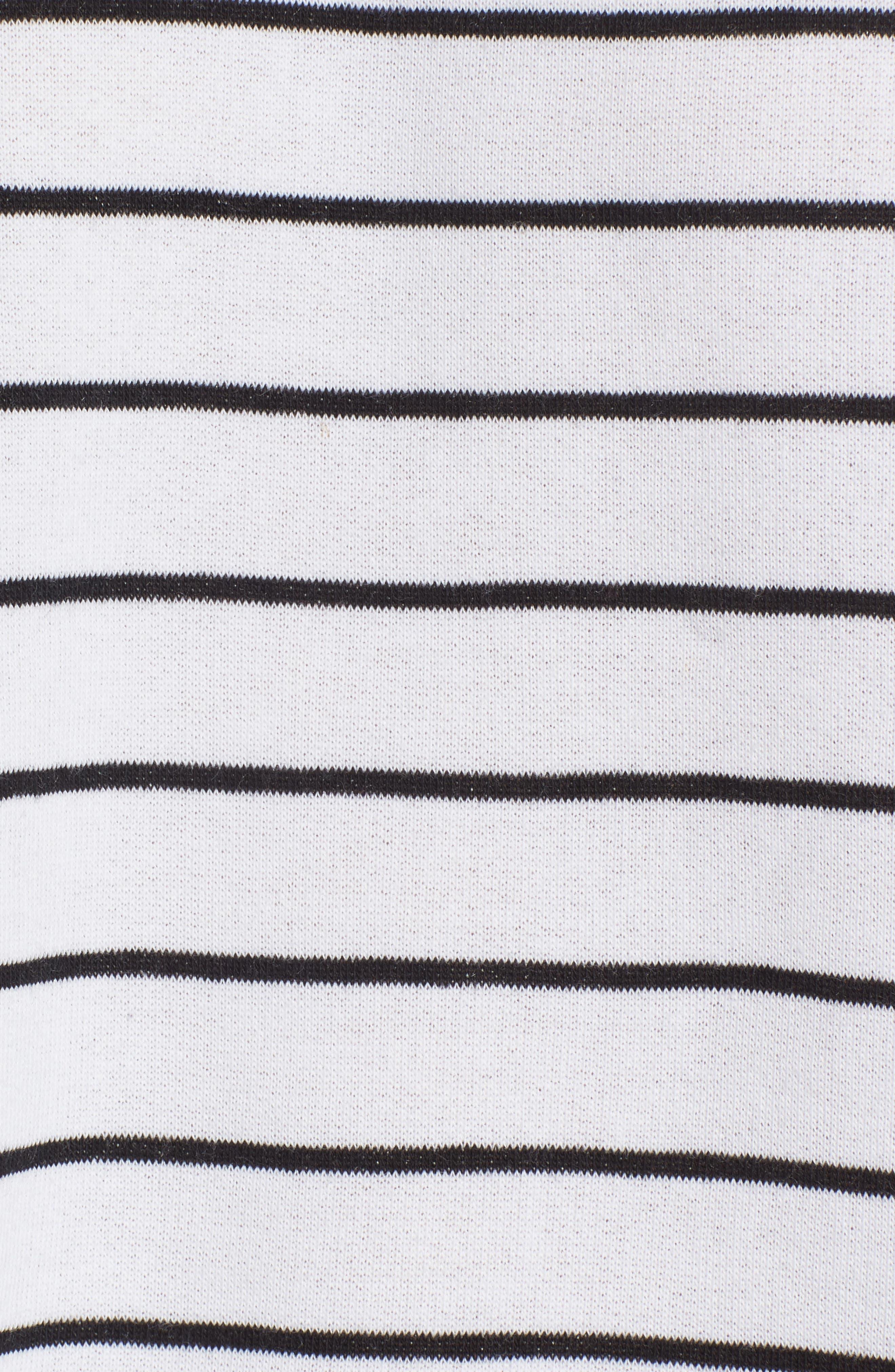 Drop Shoulder Stripe Sweater,                             Alternate thumbnail 5, color,                             White Liz Stripe