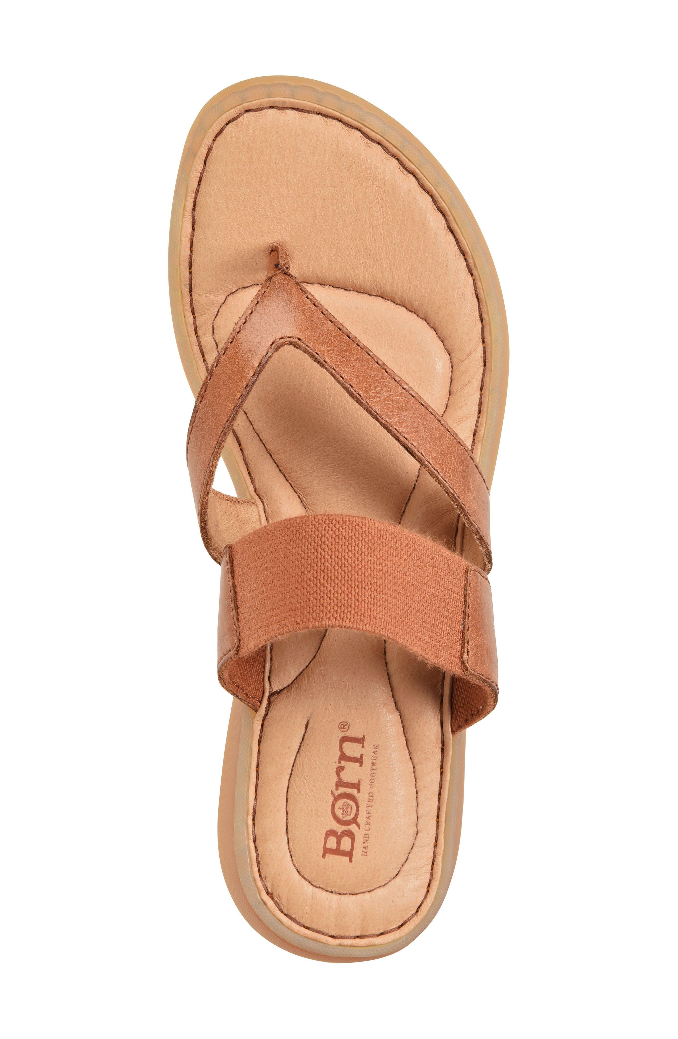 Nevis Sandal,                             Alternate thumbnail 5, color,                             Brown Leather