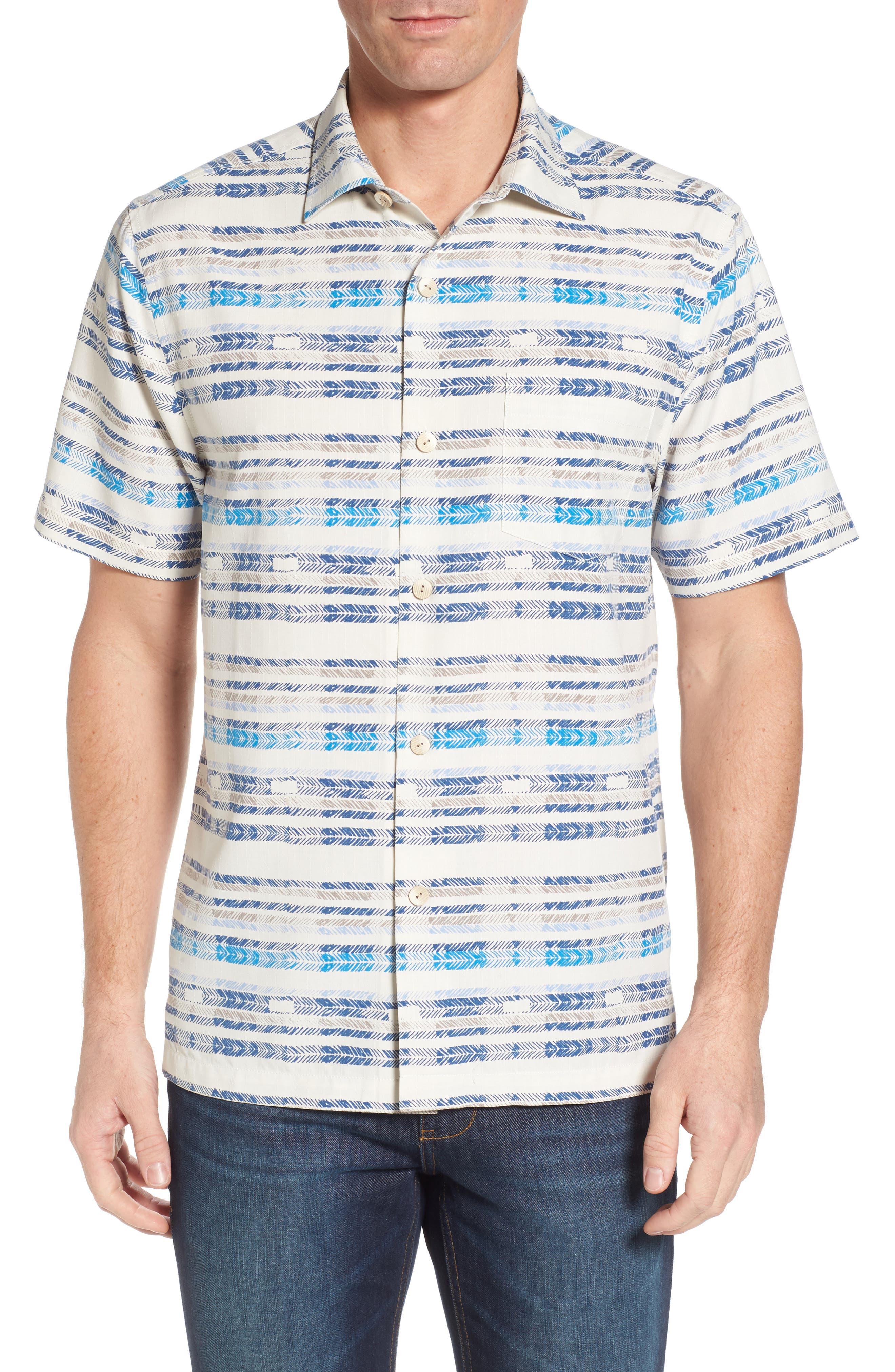 Breaker Bay Sport Shirt,                             Main thumbnail 1, color,                             Coconut Cream