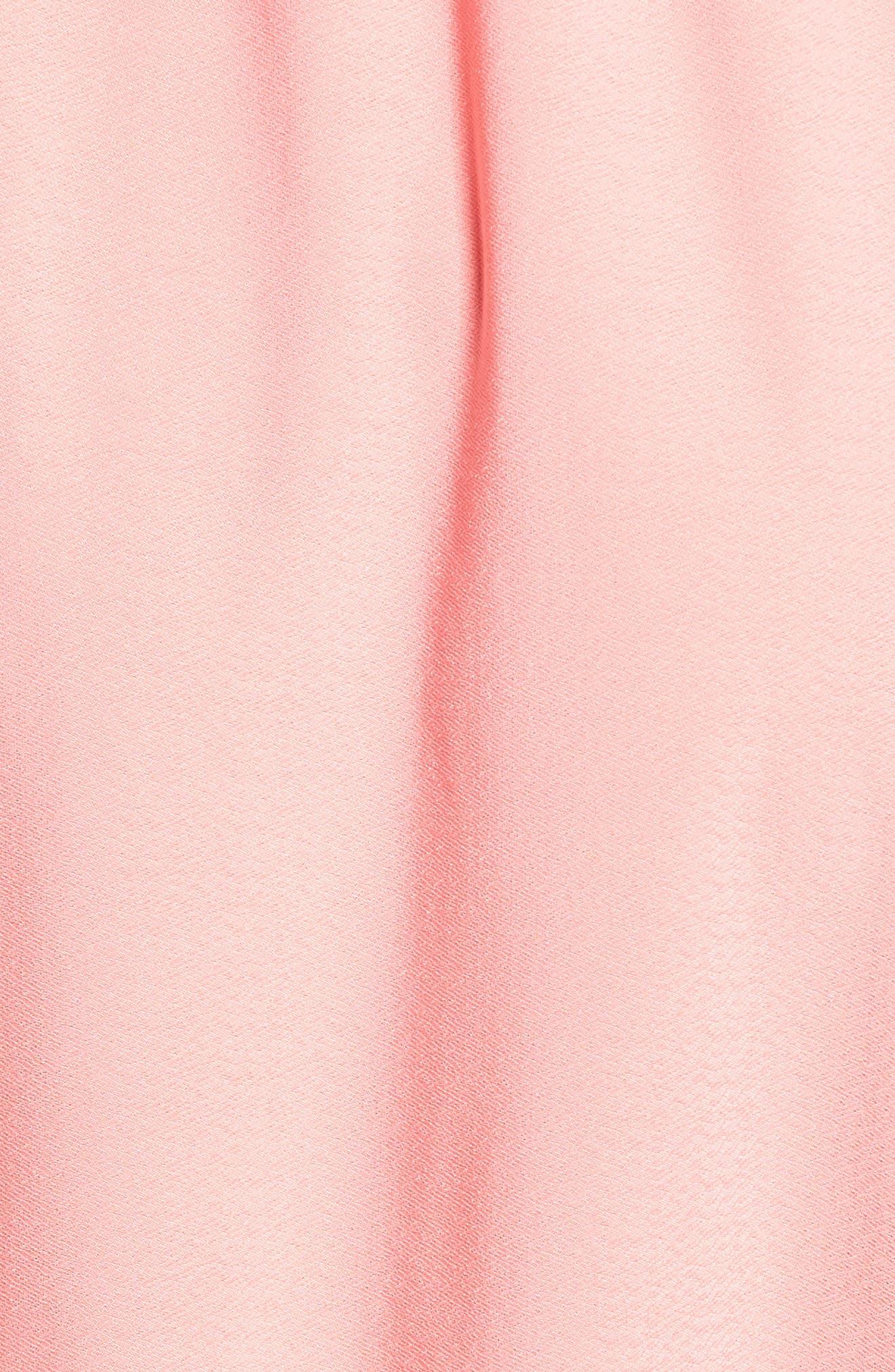 Flounce Sleeve Wrap Dress,                             Alternate thumbnail 5, color,                             Coral Rose Tea