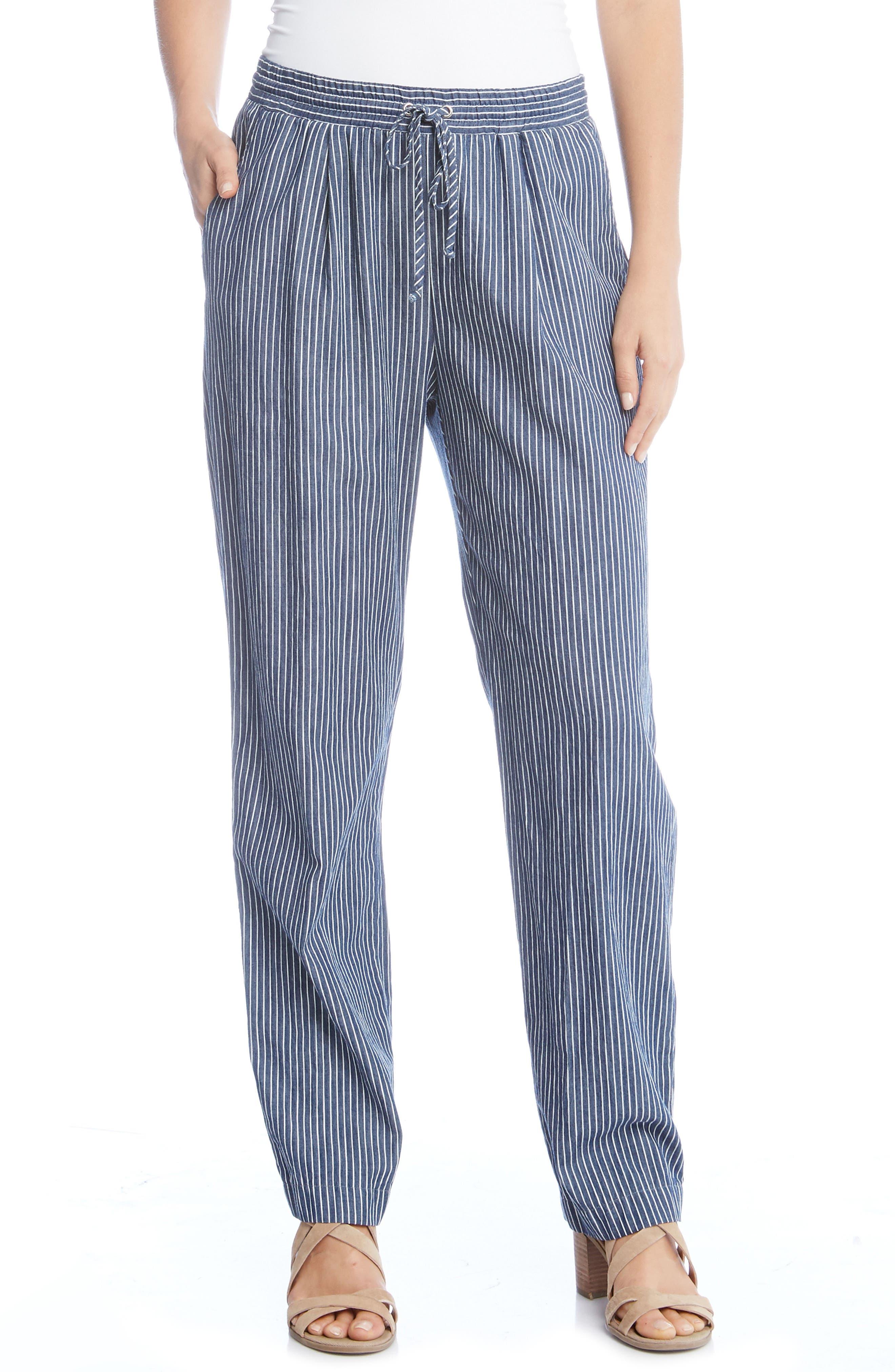 Stripe Drawsting Pants,                         Main,                         color, Striped