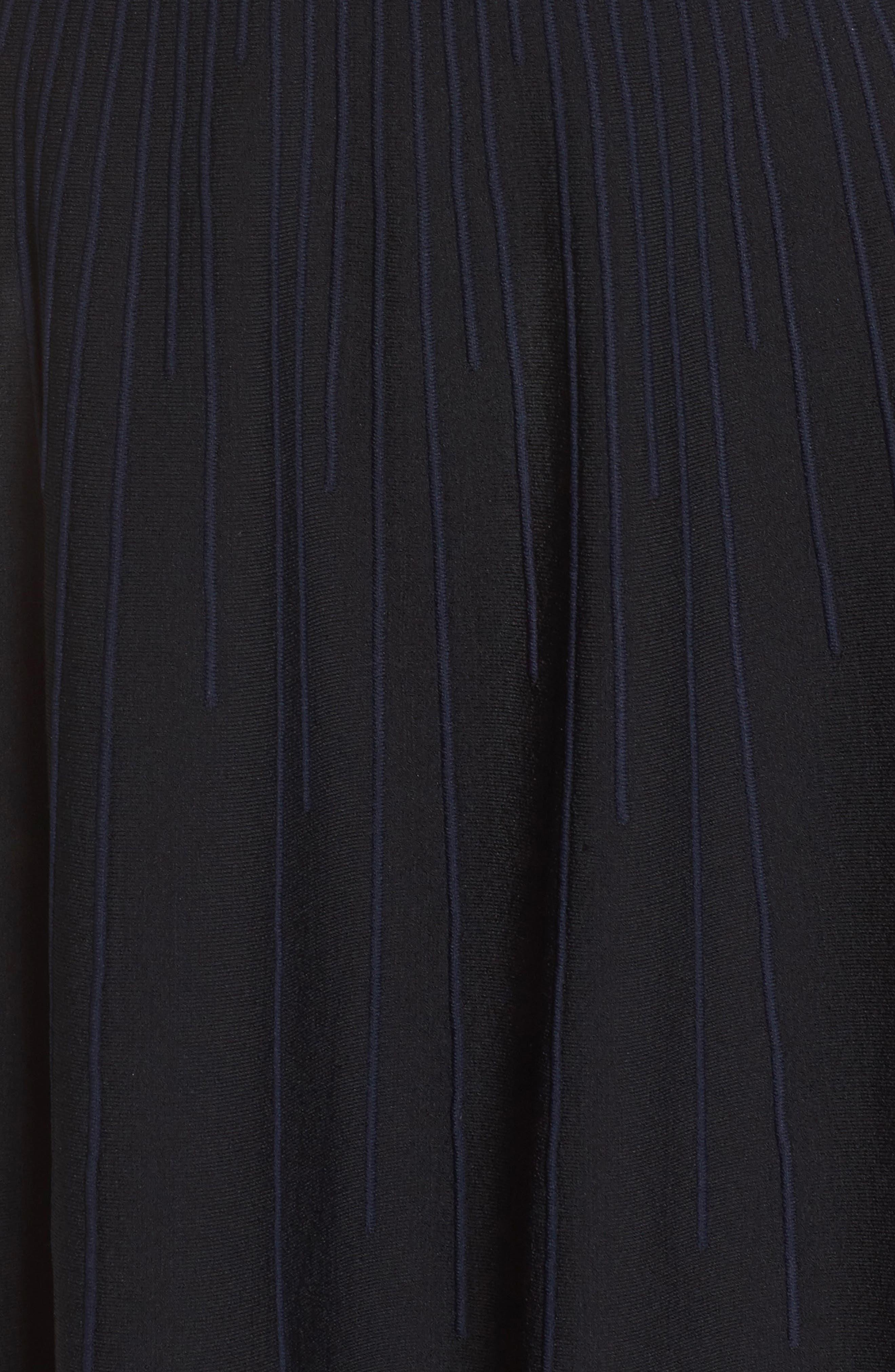 Olivia Off the Shoulder Dress,                             Alternate thumbnail 5, color,                             Black/ Nocturnal