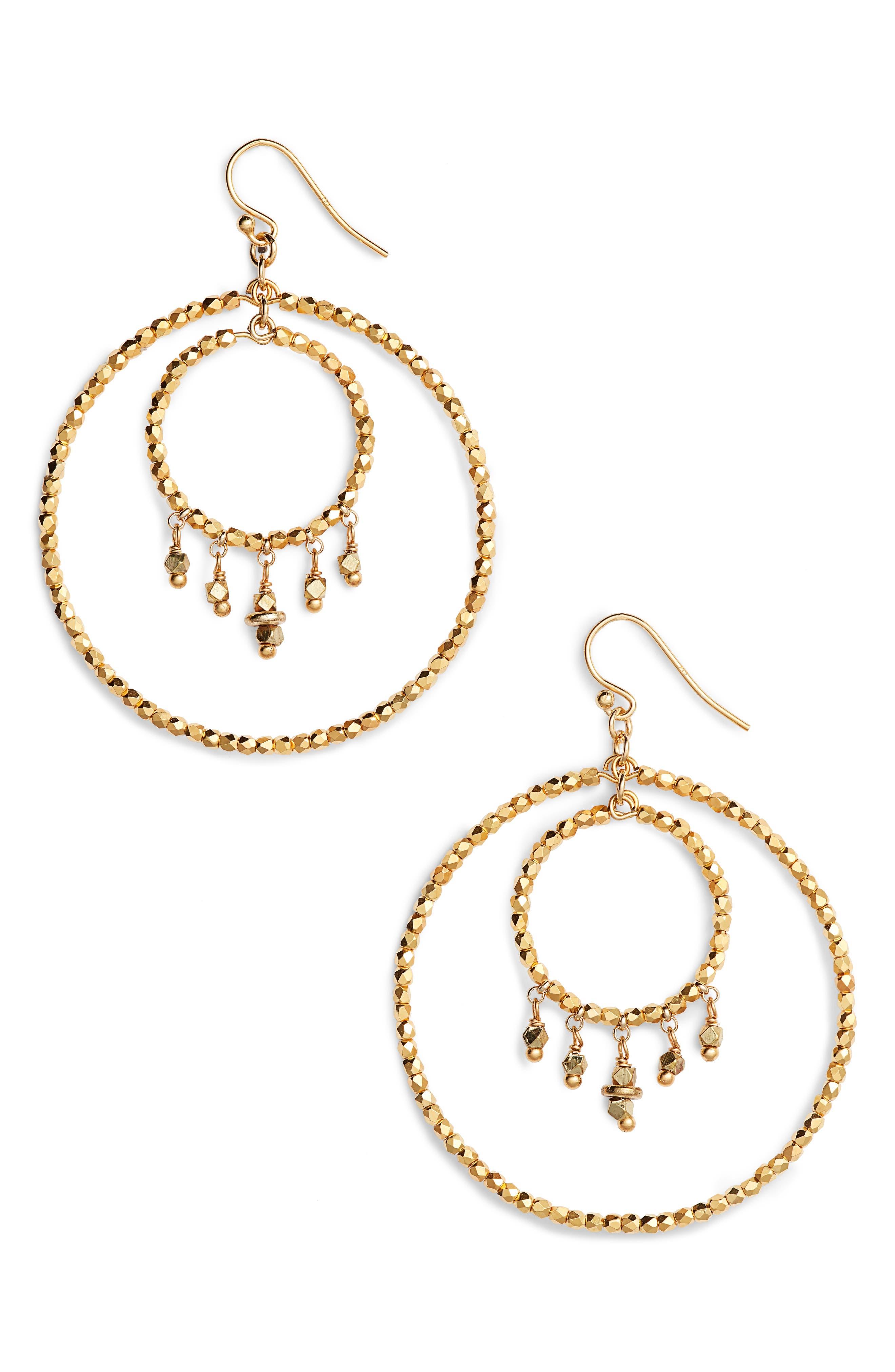 Alternate Image 1 Selected - Chan Luu Double Hoop Earrings