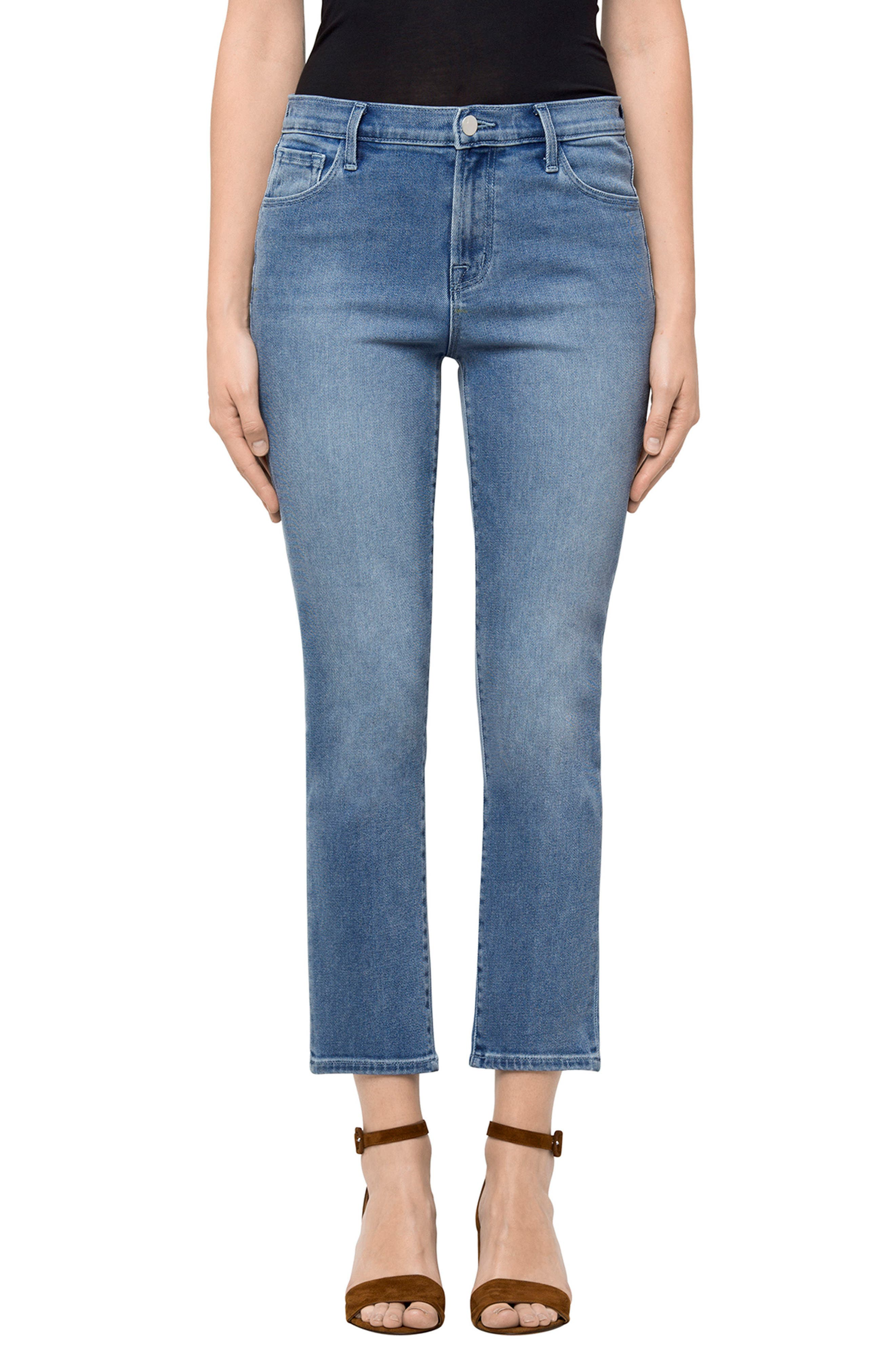 Main Image - J Brand Ruby High Waist Crop Jeans (Utopia)