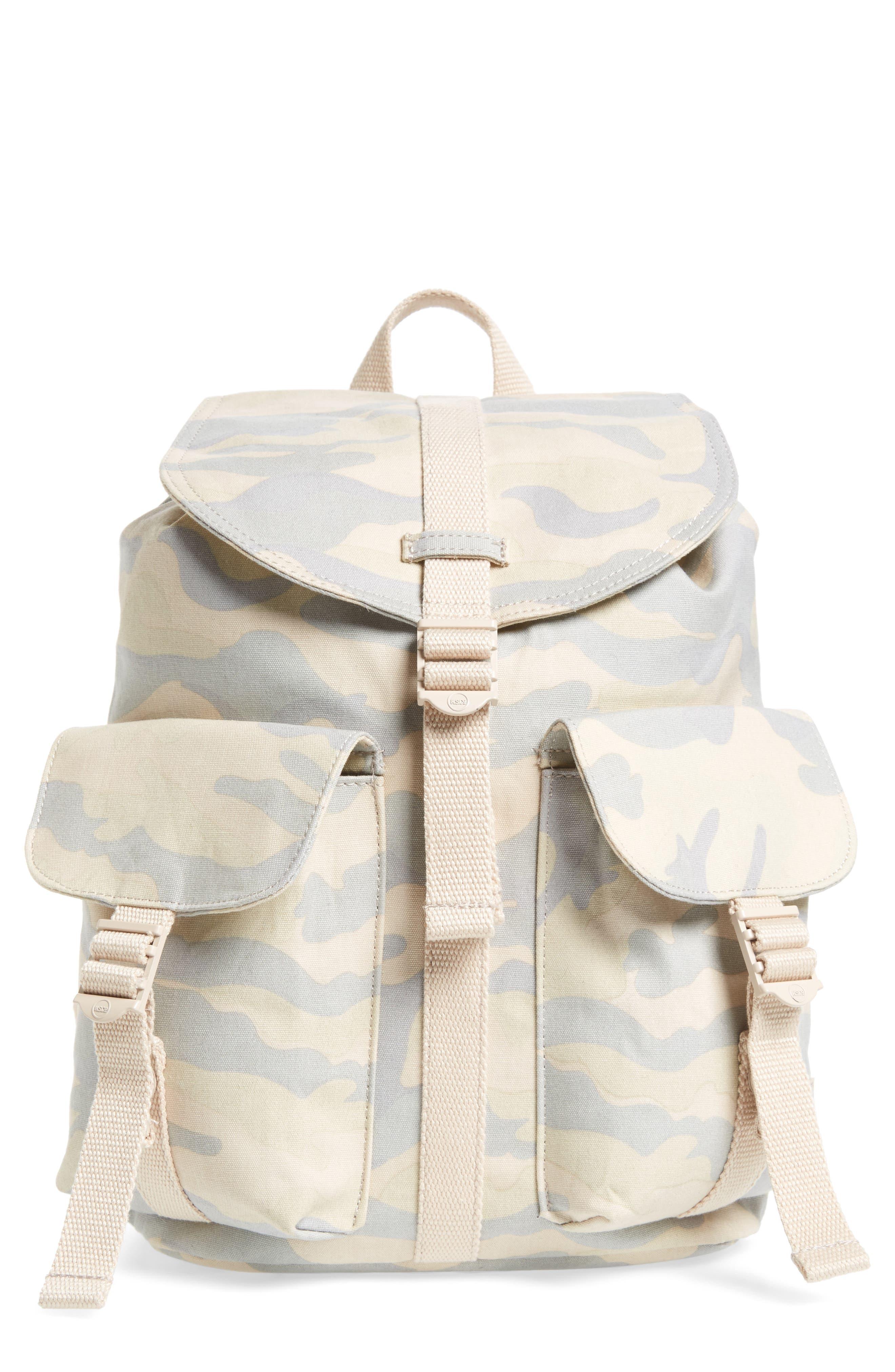X-Small Dawson Camo Canvas Backpack,                             Main thumbnail 1, color,                             Washed Canvas Camo