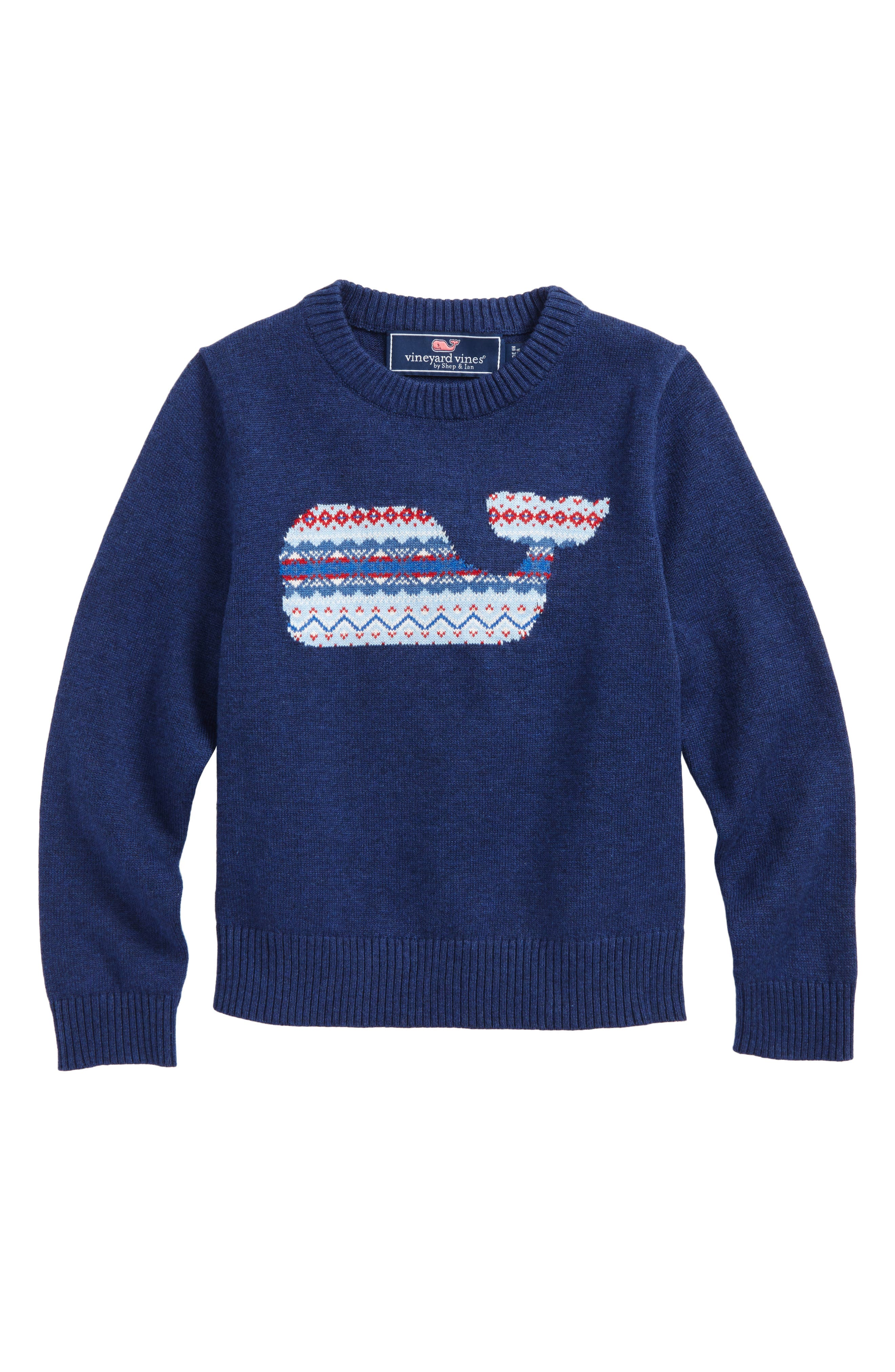vineyard vines Whale Isle Intarsia Sweater (Toddler Boys & Little Boys)