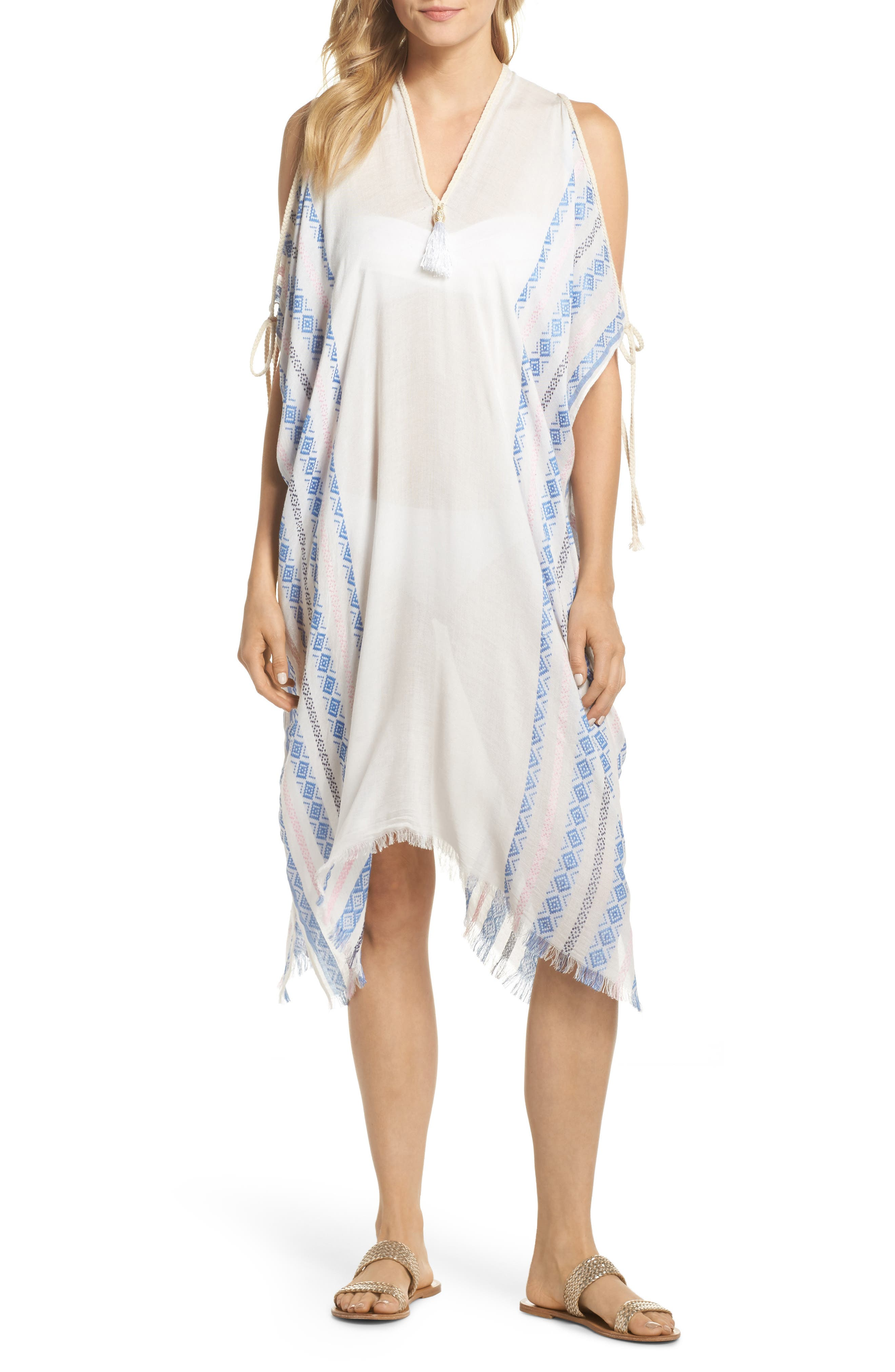 Anytime Cover-Up Caftan,                         Main,                         color, Blue