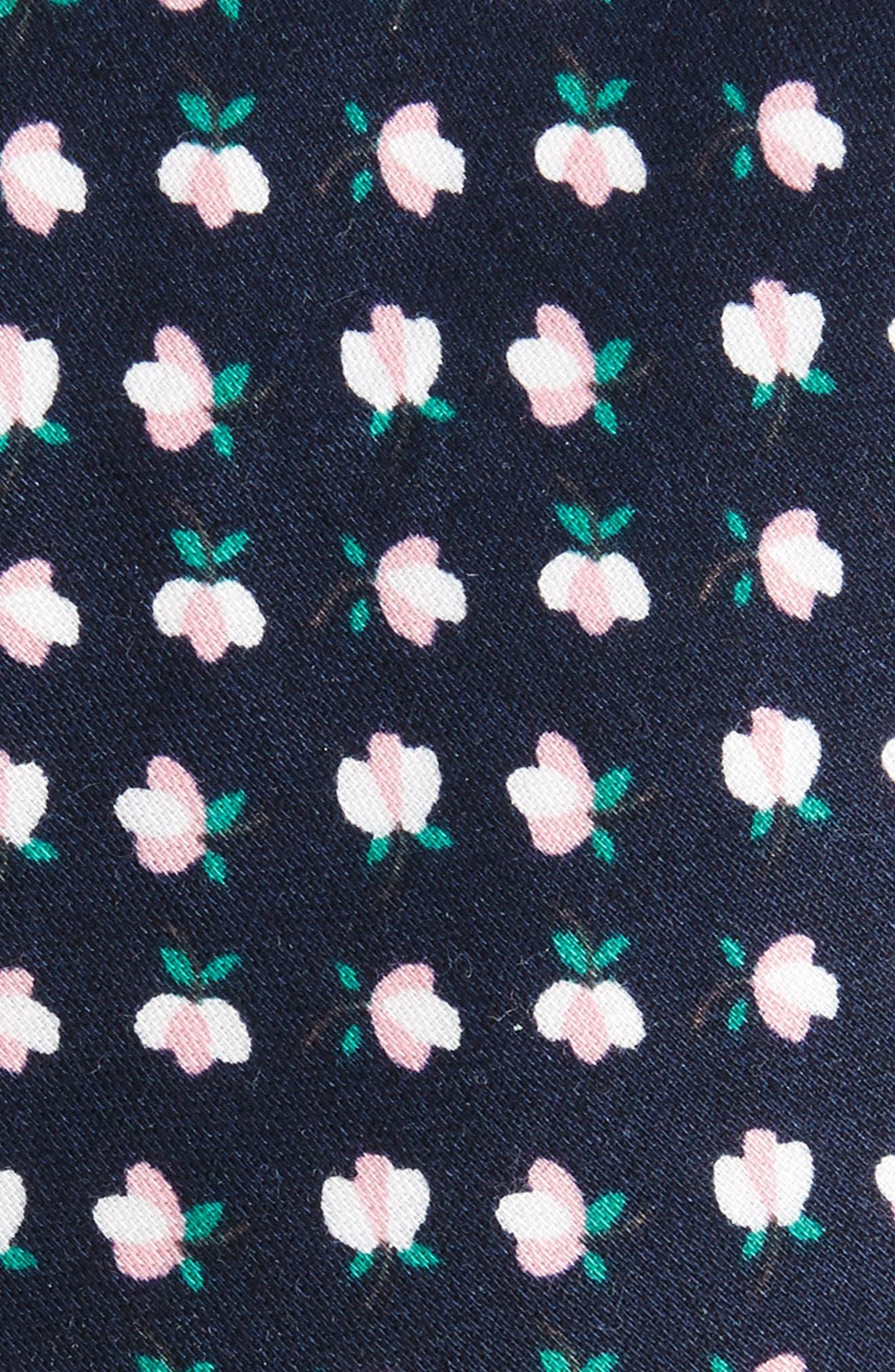 Rufford Mini Floral Cotton Tie,                             Alternate thumbnail 2, color,                             Navy