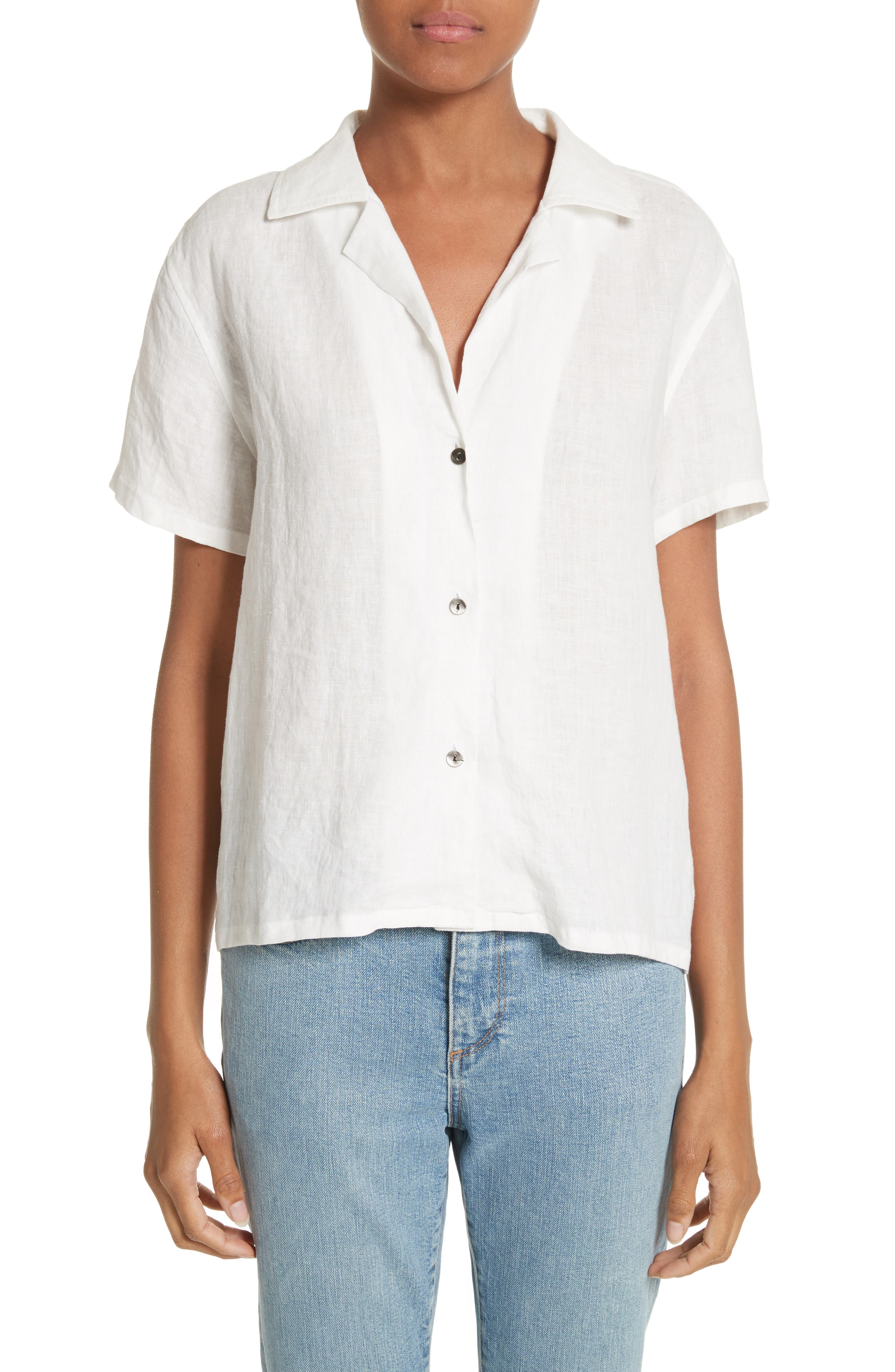 Alternate Image 1 Selected - Simon Miller Kinney Linen Blouse