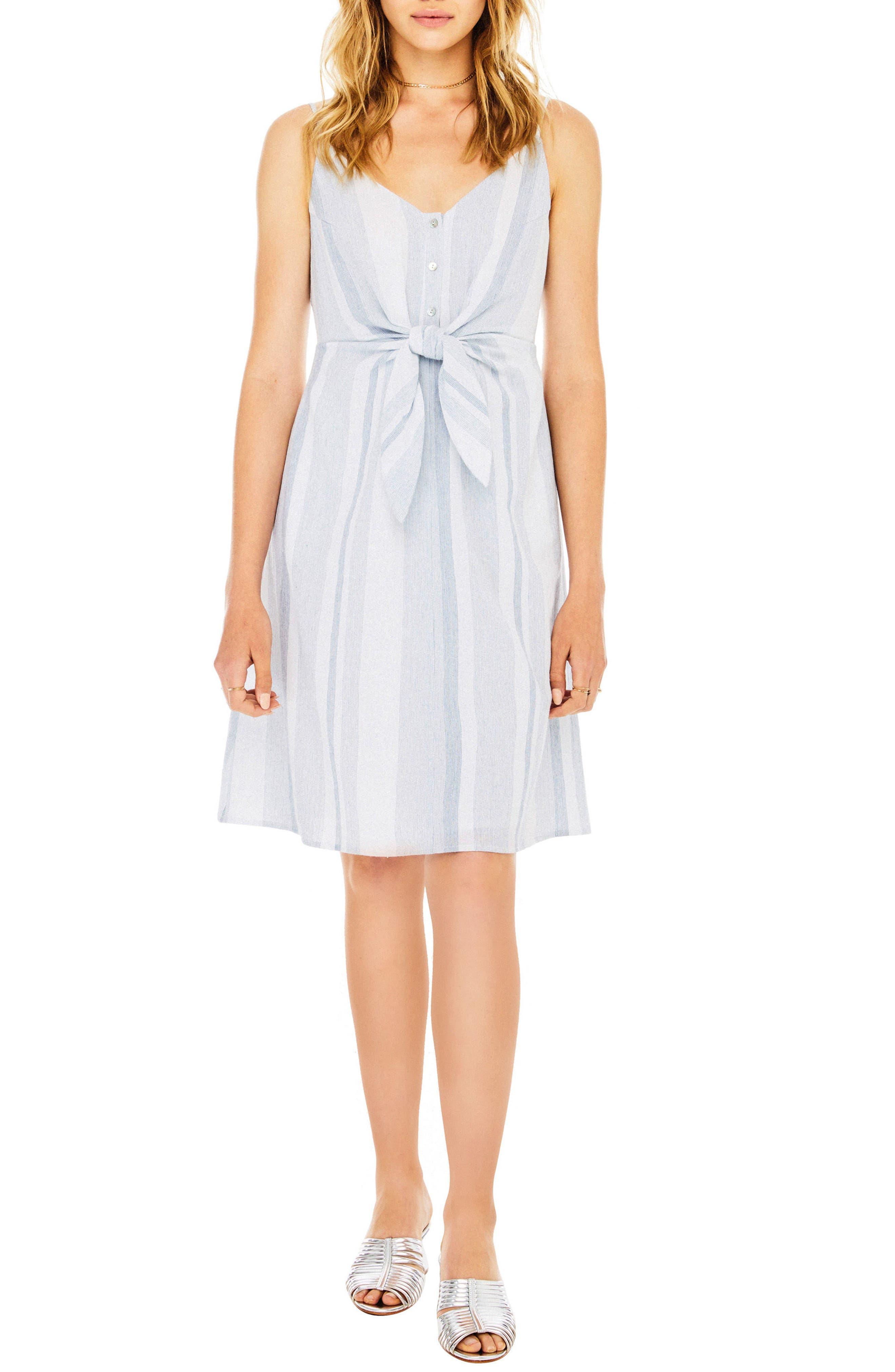Parker Dress,                         Main,                         color, Sky Blue Stripe