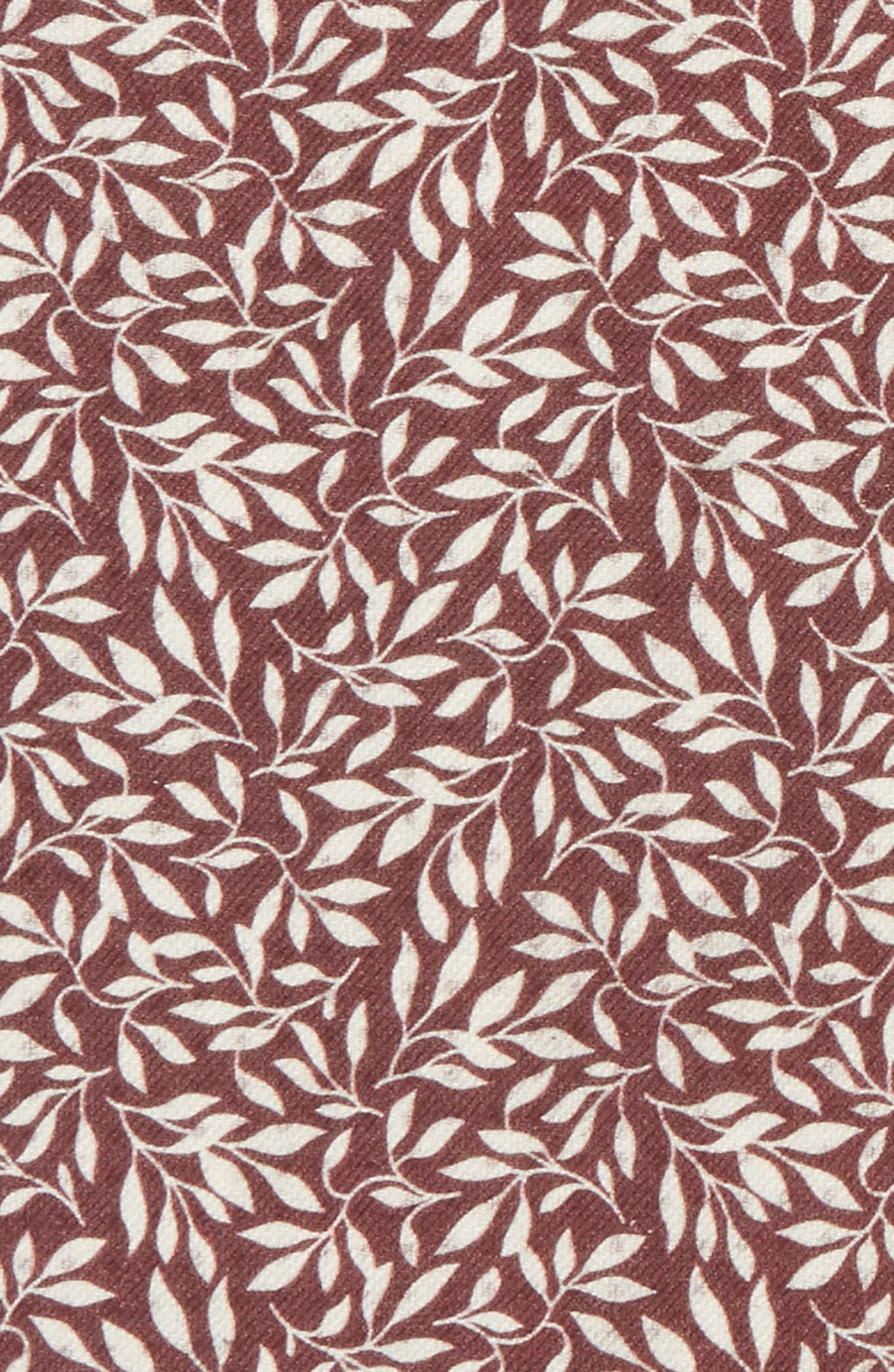 Reversible Domino Sprout Silk Pocket Square,                             Alternate thumbnail 3, color,                             Burgundy