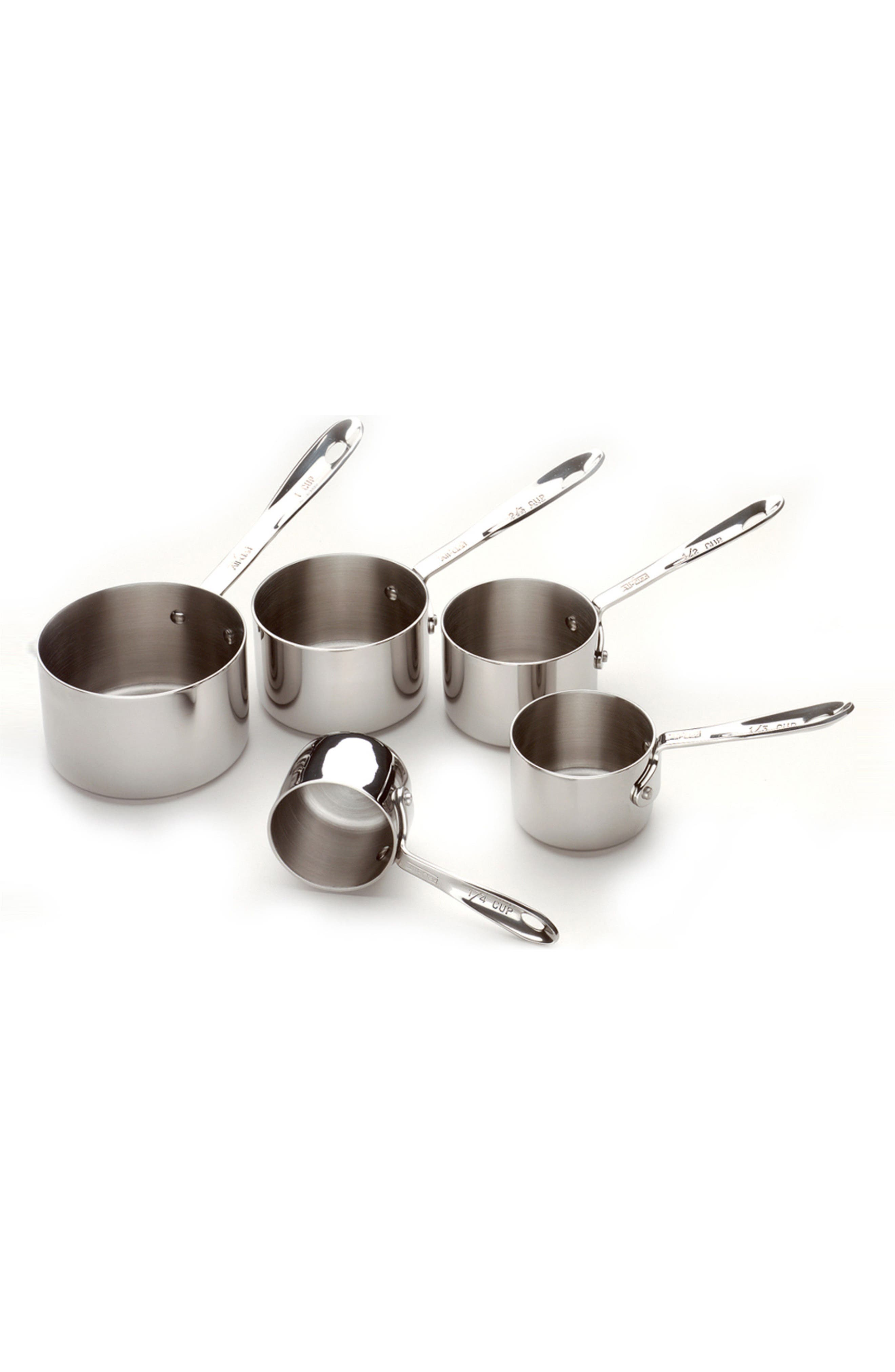 All-Clad 5-Piece Stainless Steel Measuring Cup Set