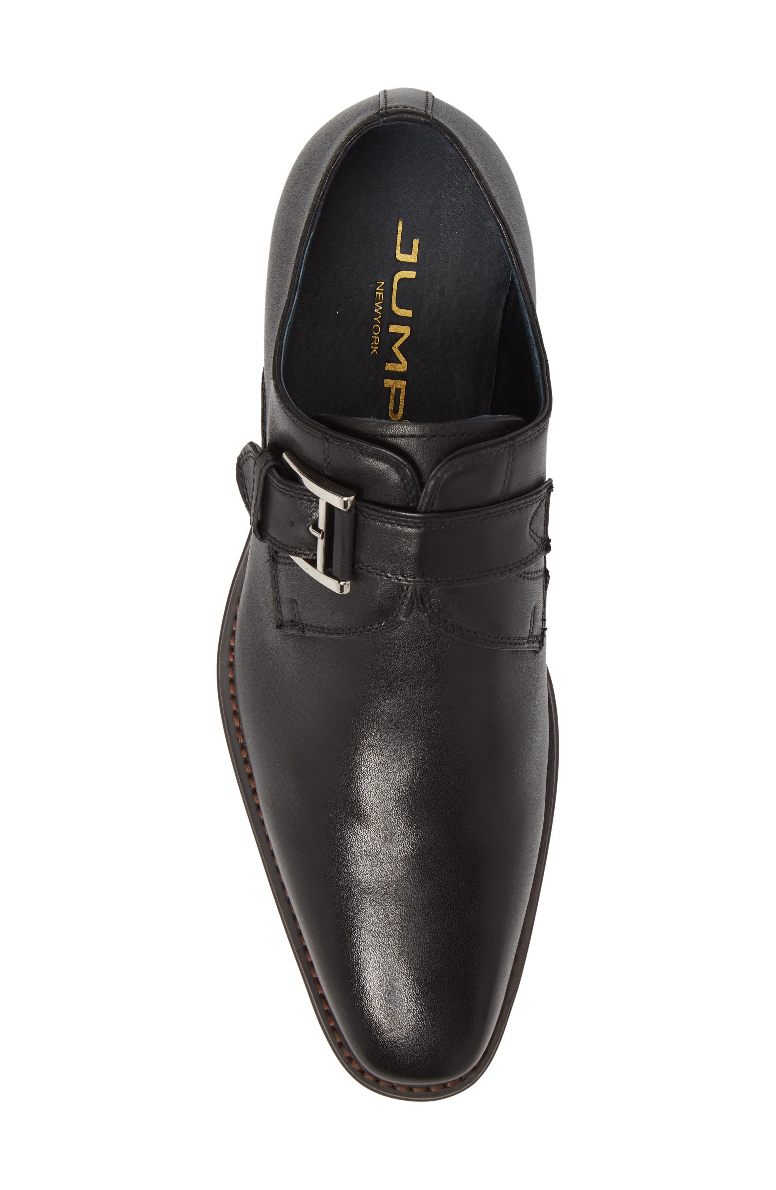 Miguel Monk Strap Shoe,                             Alternate thumbnail 5, color,                             Black Leather