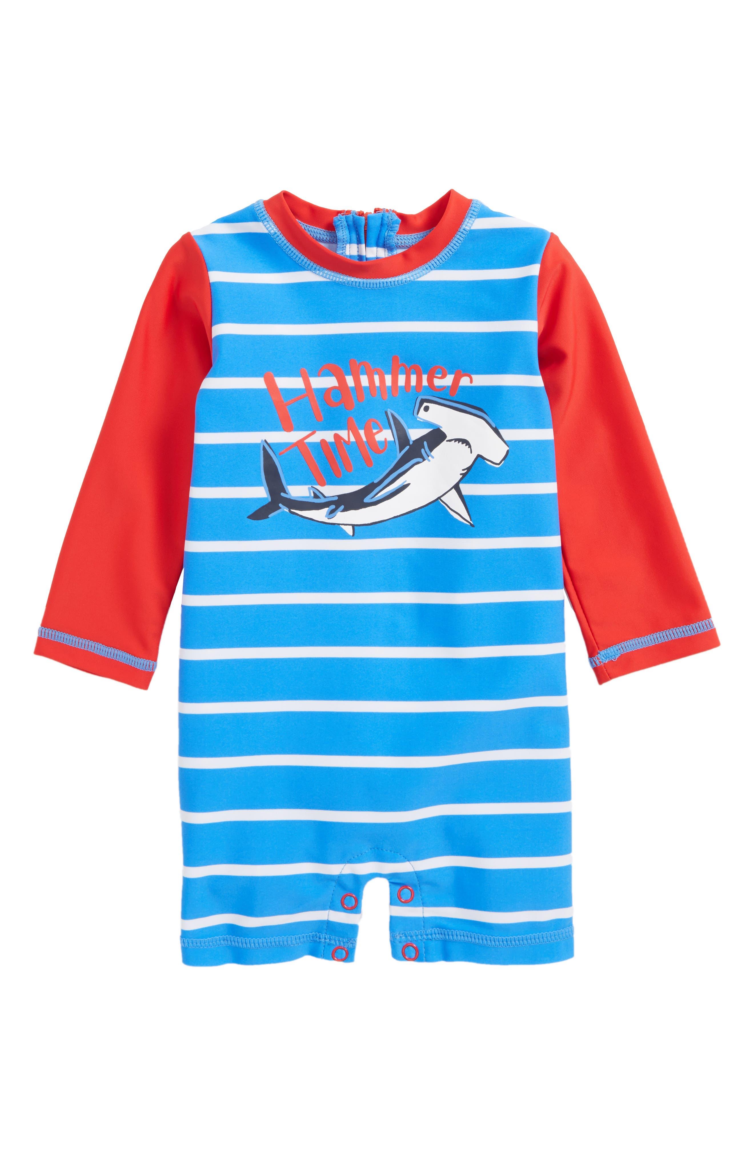 One-Piece Rashguard Swimsuit,                             Main thumbnail 1, color,                             Surf Island