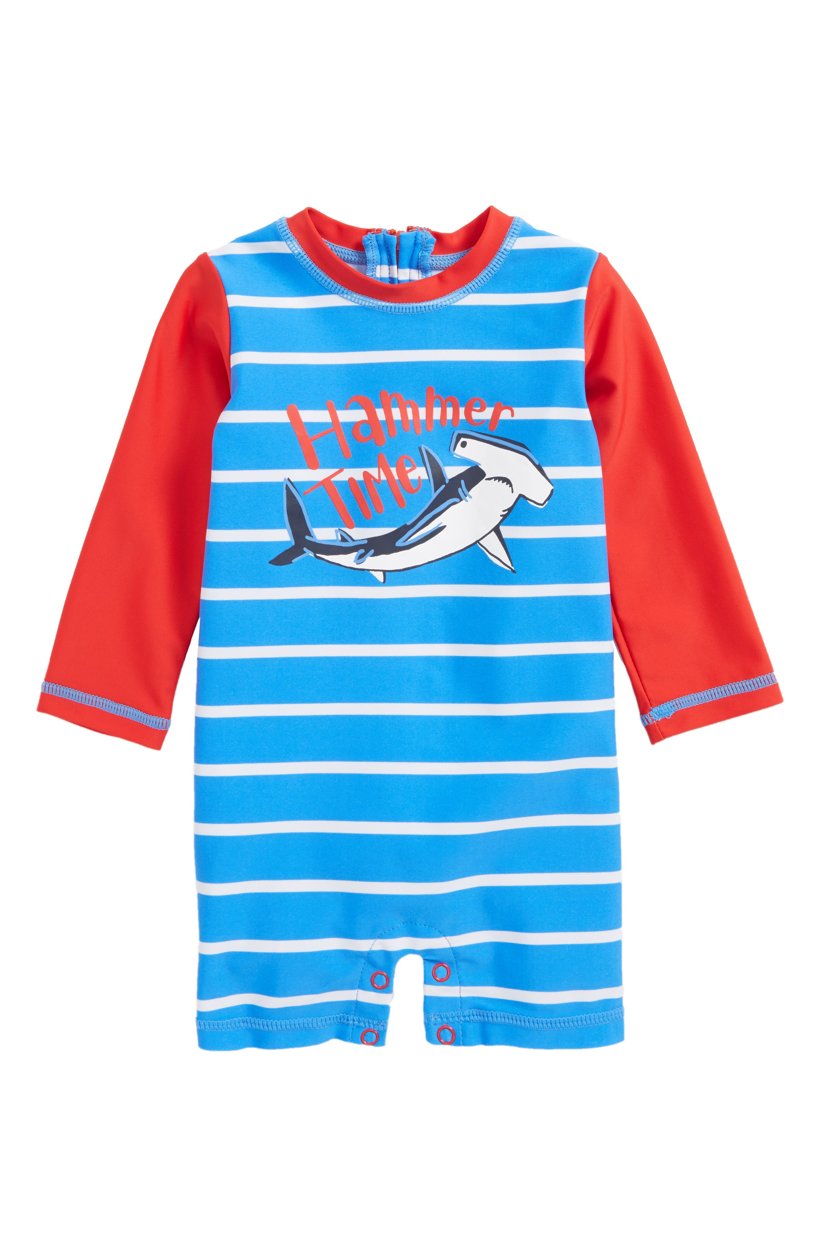 Hatley One-Piece Rashguard Swimsuit (Baby Boys)