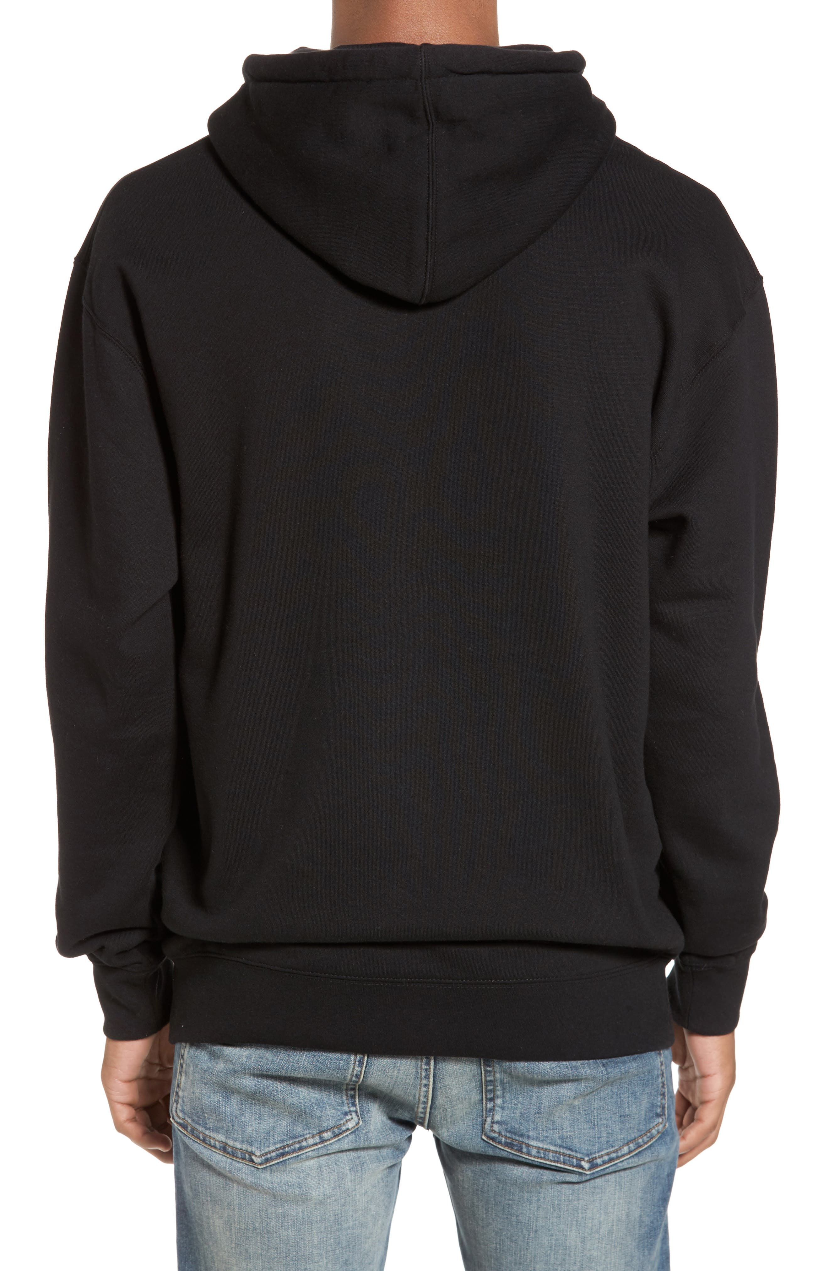 Johnny Tree above the Clouds Hoodie,                             Alternate thumbnail 2, color,                             Black