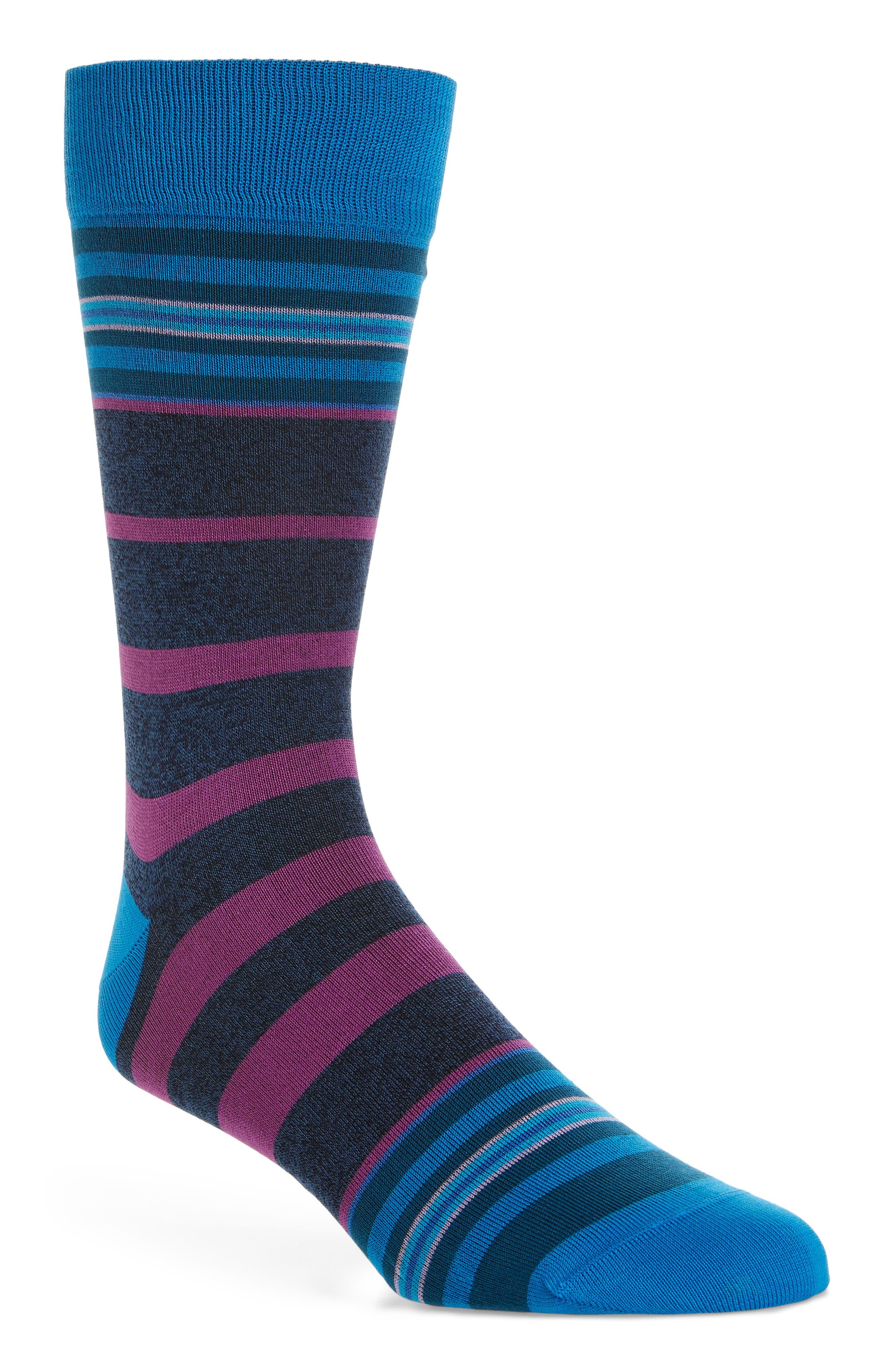 Striped Socks,                         Main,                         color, Denim
