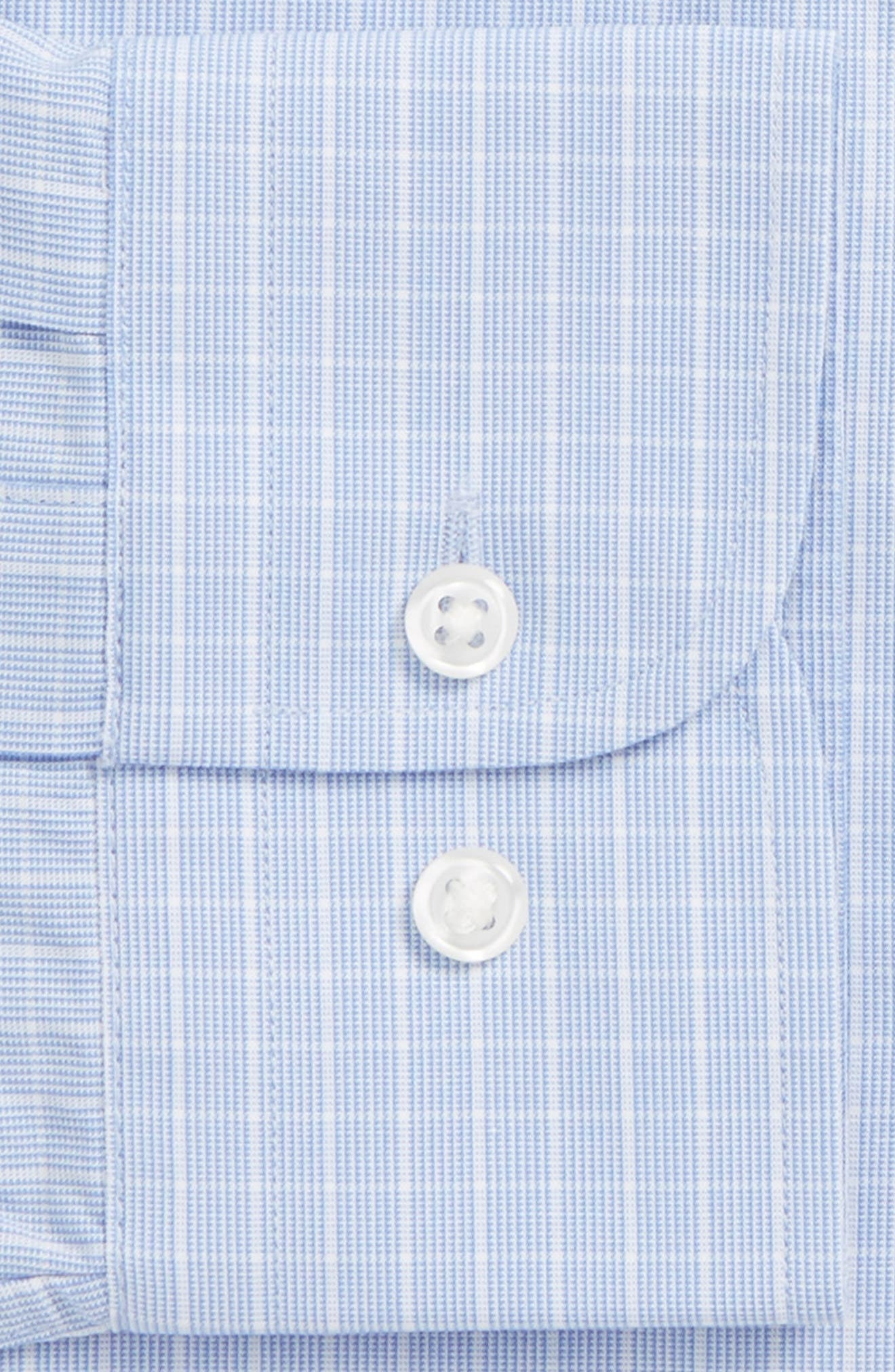 Alternate Image 5  - Nordstrom Men's Shop Tech-Smart Trim Fit Grid Dress Shirt