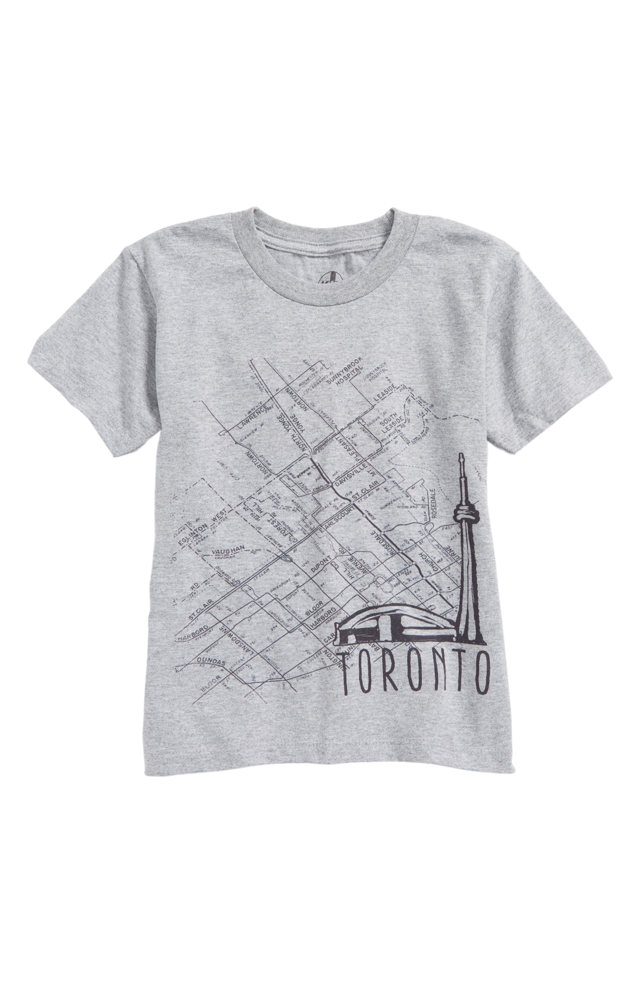 Alternate Image 1 Selected - Kid Dangerous Toronto Map Graphic T-Shirt (Toddler Boys & Little Boys)