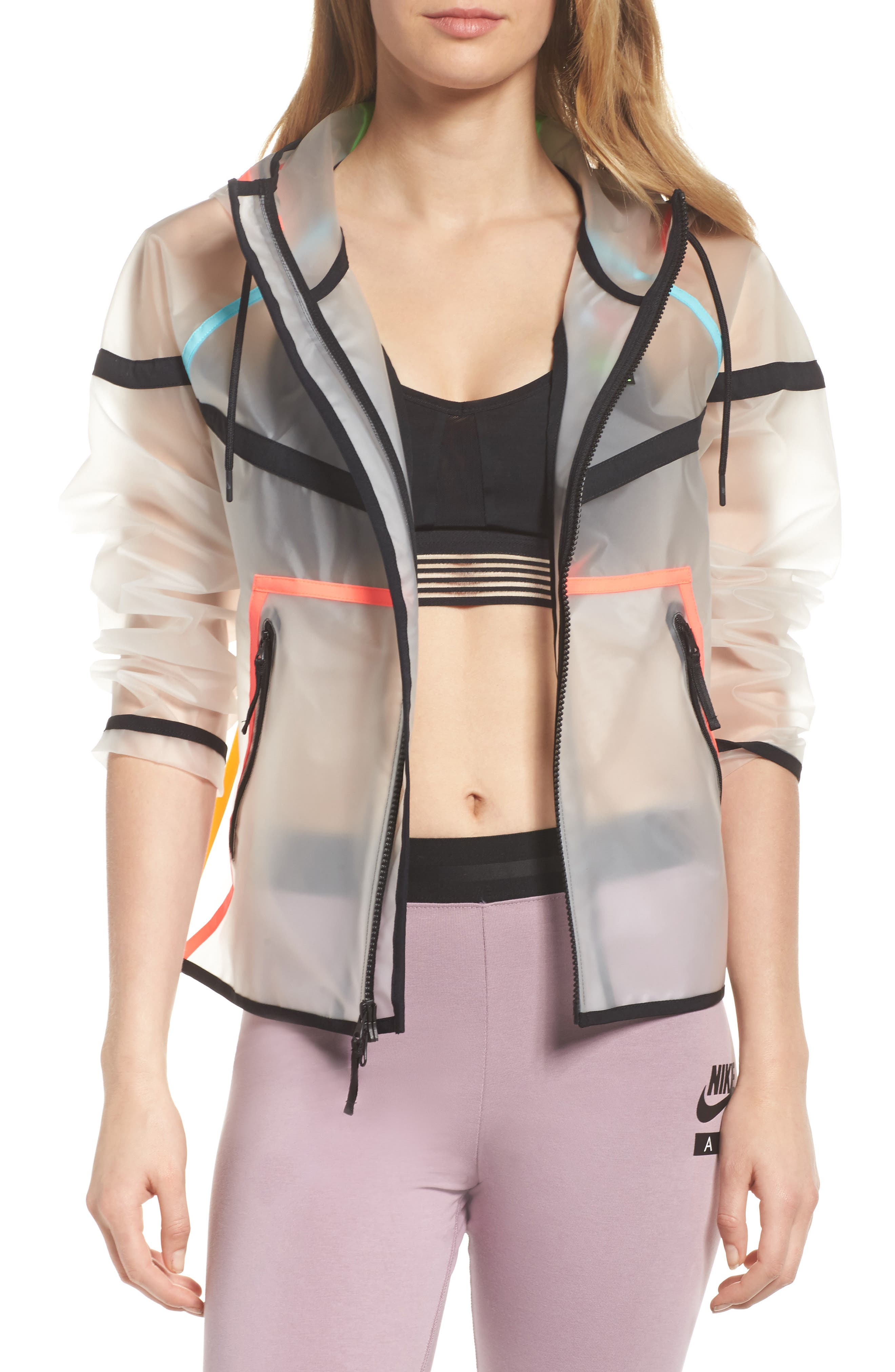 NikeLab Collection Ghost Windrunner Women's Jacket,                             Main thumbnail 1, color,                             Clear
