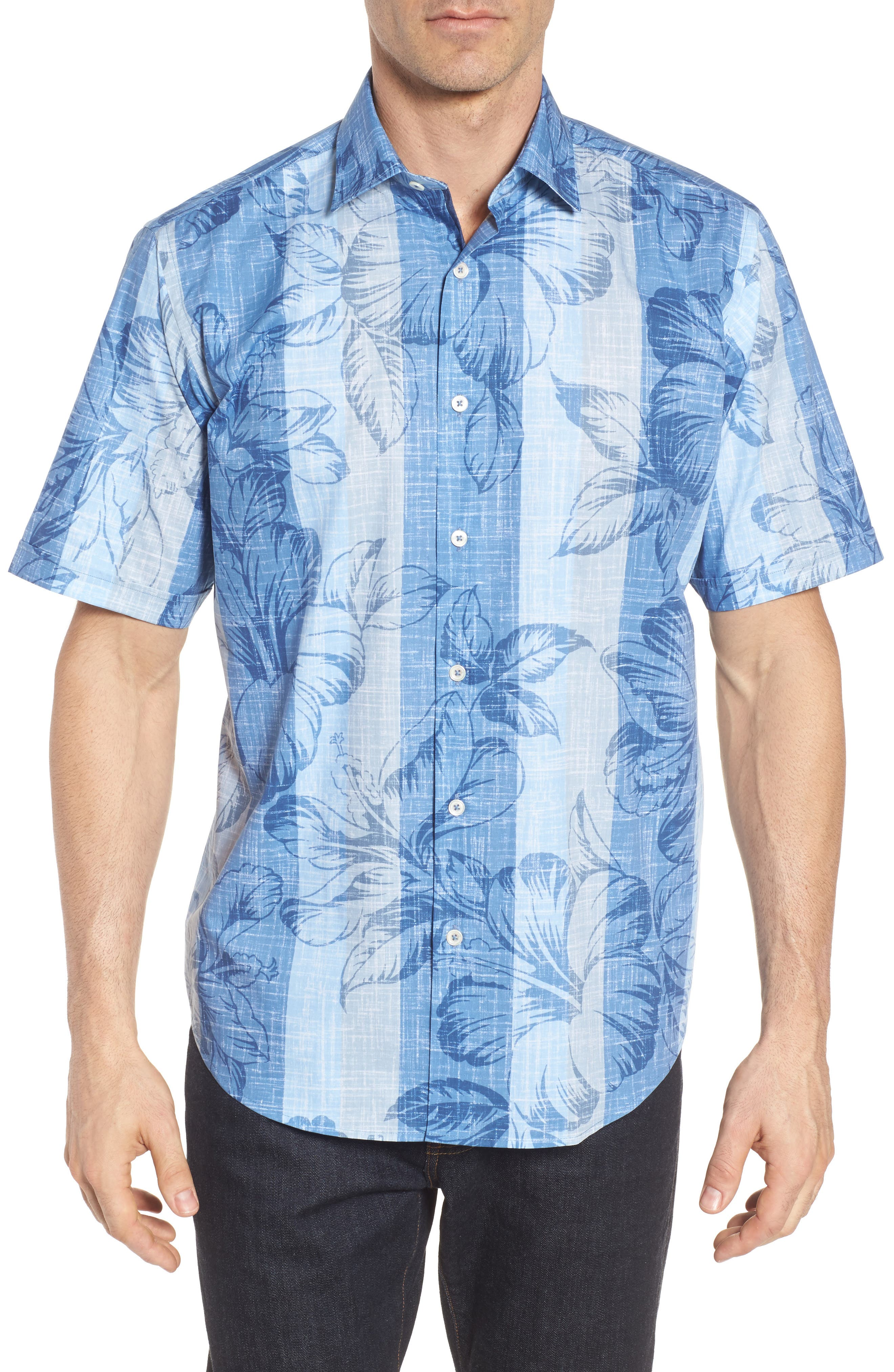 Alternate Image 1 Selected - Bugatchi Classic Fit Floral Sport Shirt
