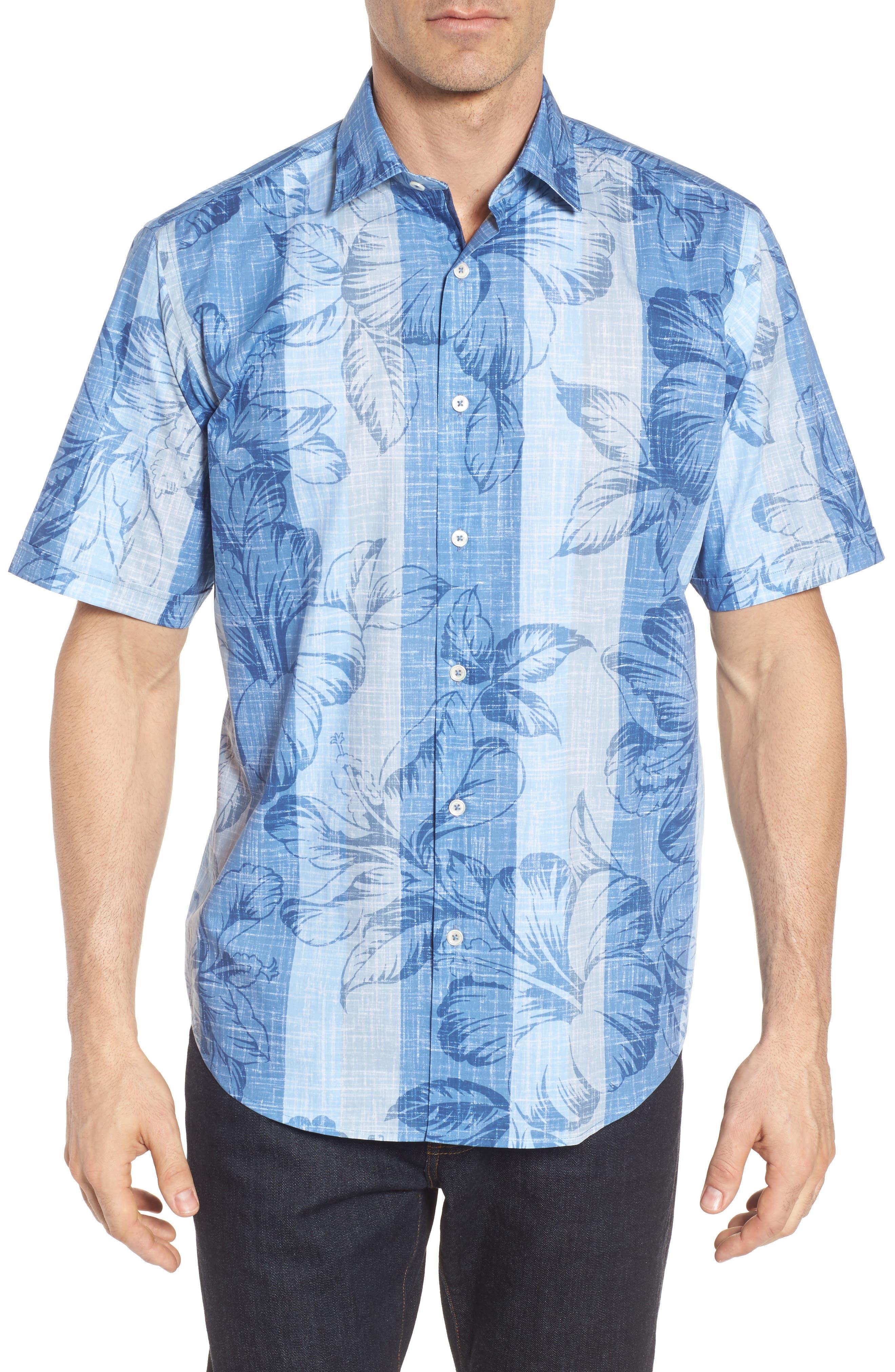 Main Image - Bugatchi Classic Fit Floral Sport Shirt