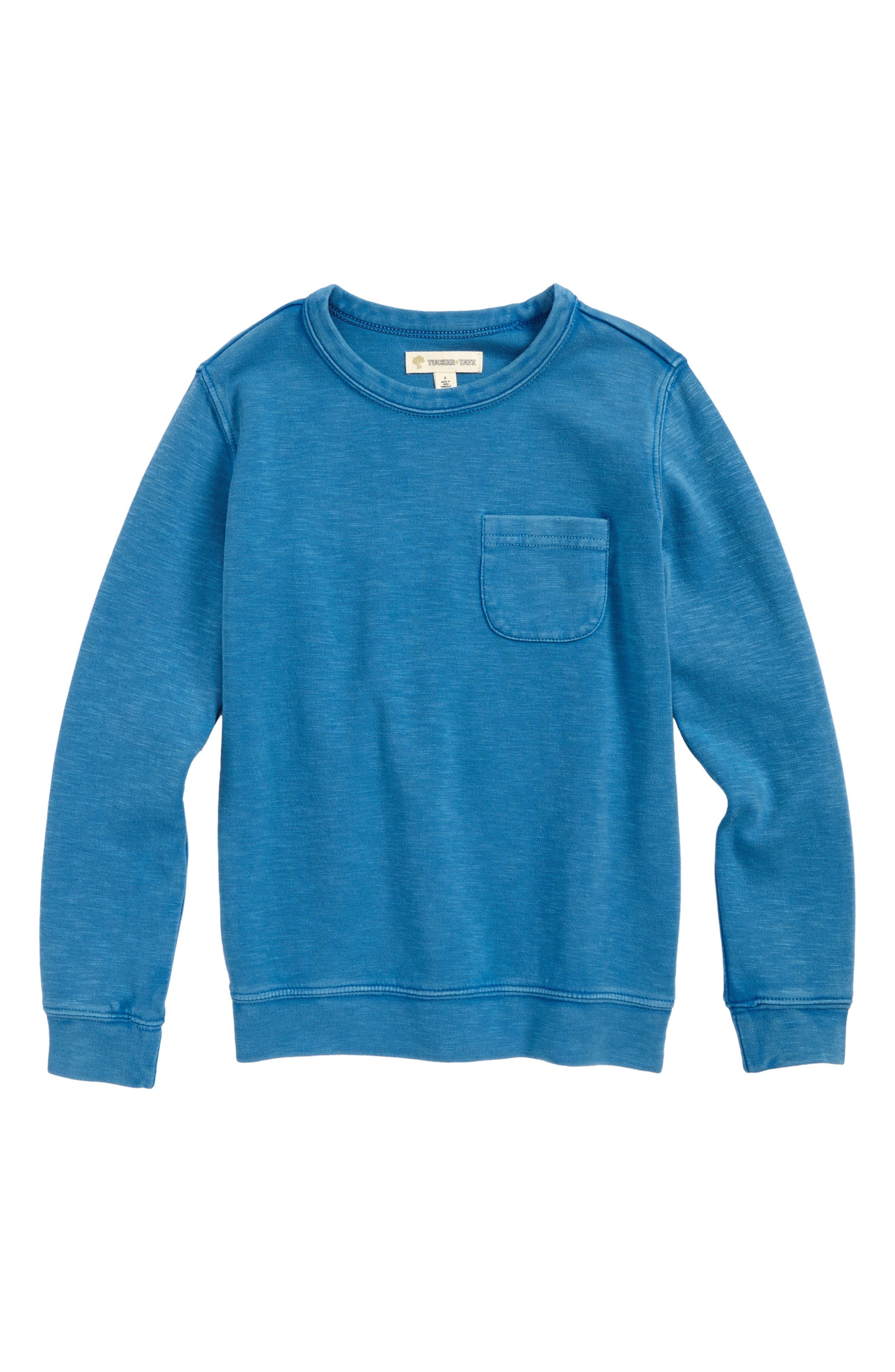 Interlock T-Shirt,                         Main,                         color, Blue Cendre
