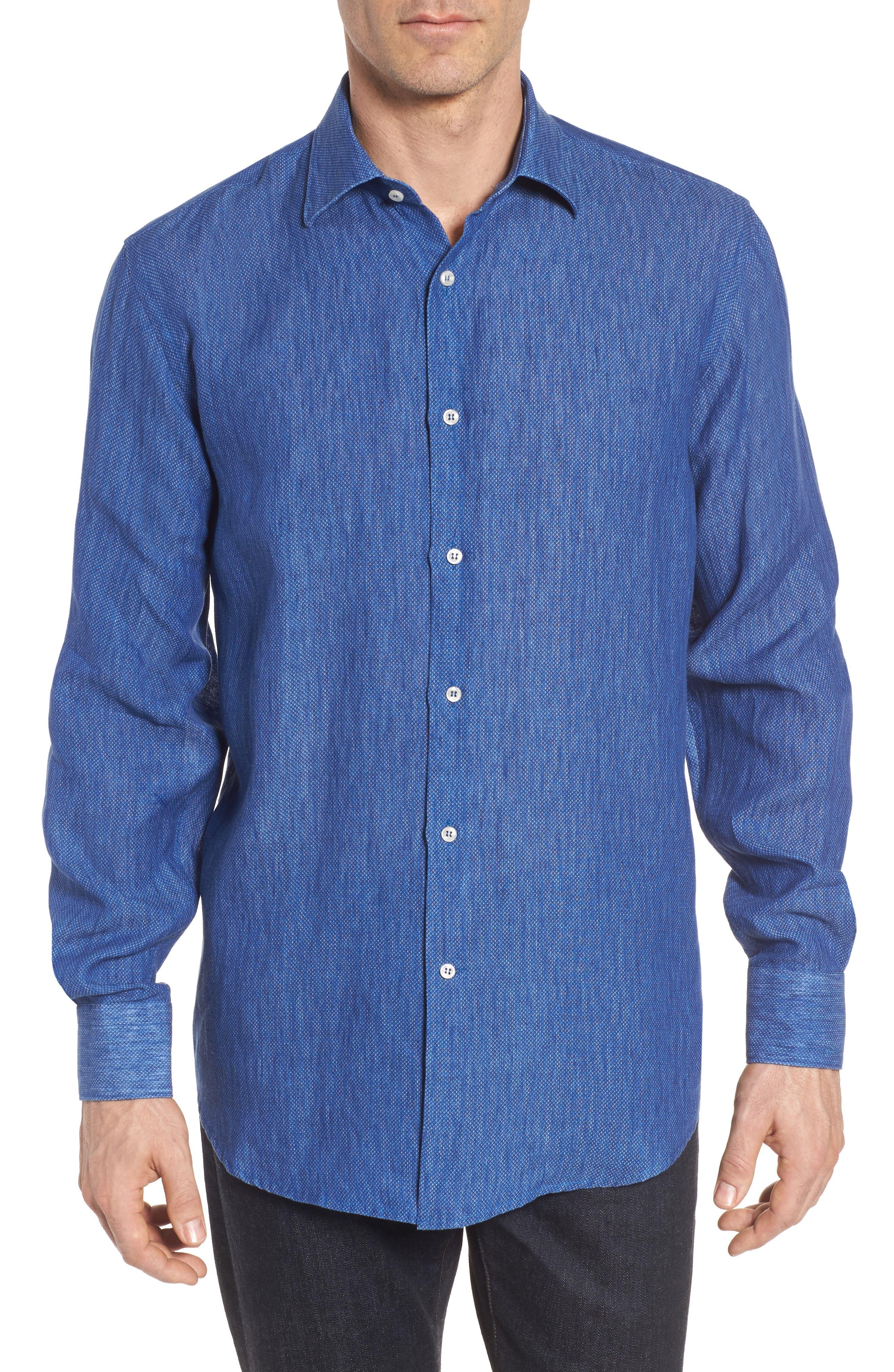 Paul&Shark Regular Fit Piqué Sport Shirt,                             Main thumbnail 1, color,                             Blue