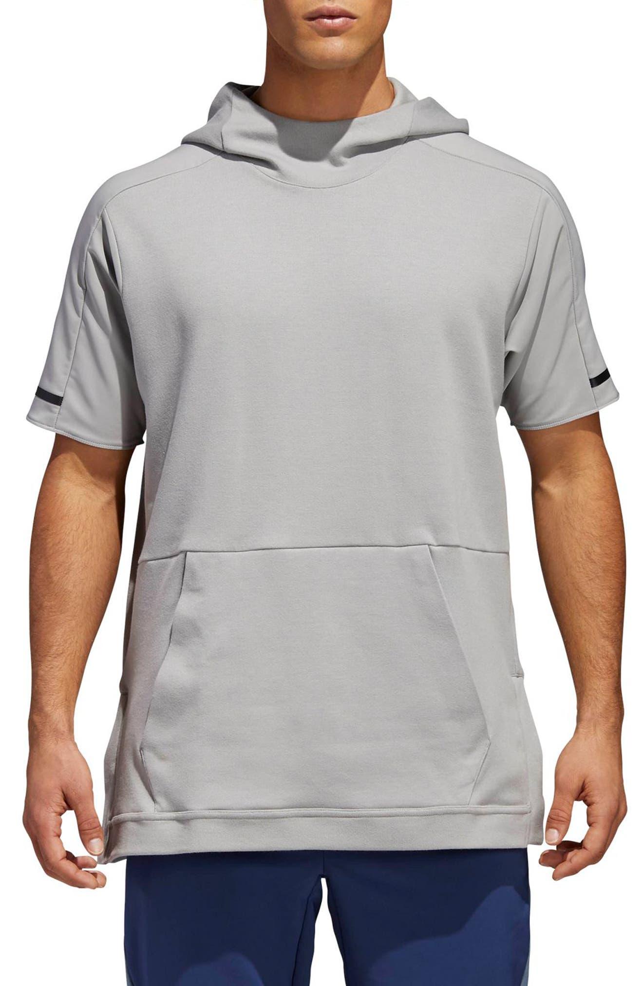 Alternate Image 1 Selected - adidas SQD Short Sleeve Hoodie