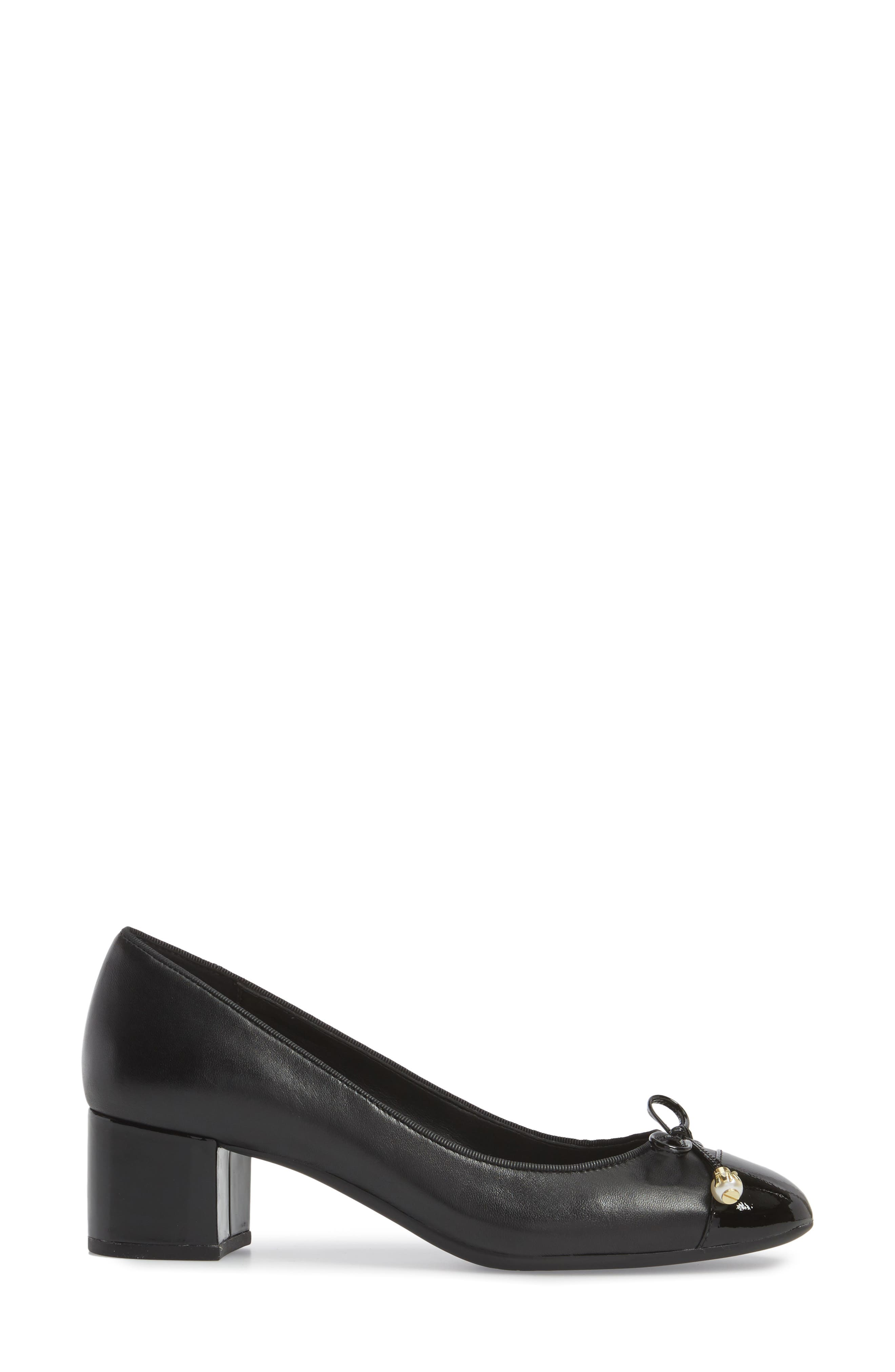 Gia Pump,                             Alternate thumbnail 3, color,                             Black Nappa Leather