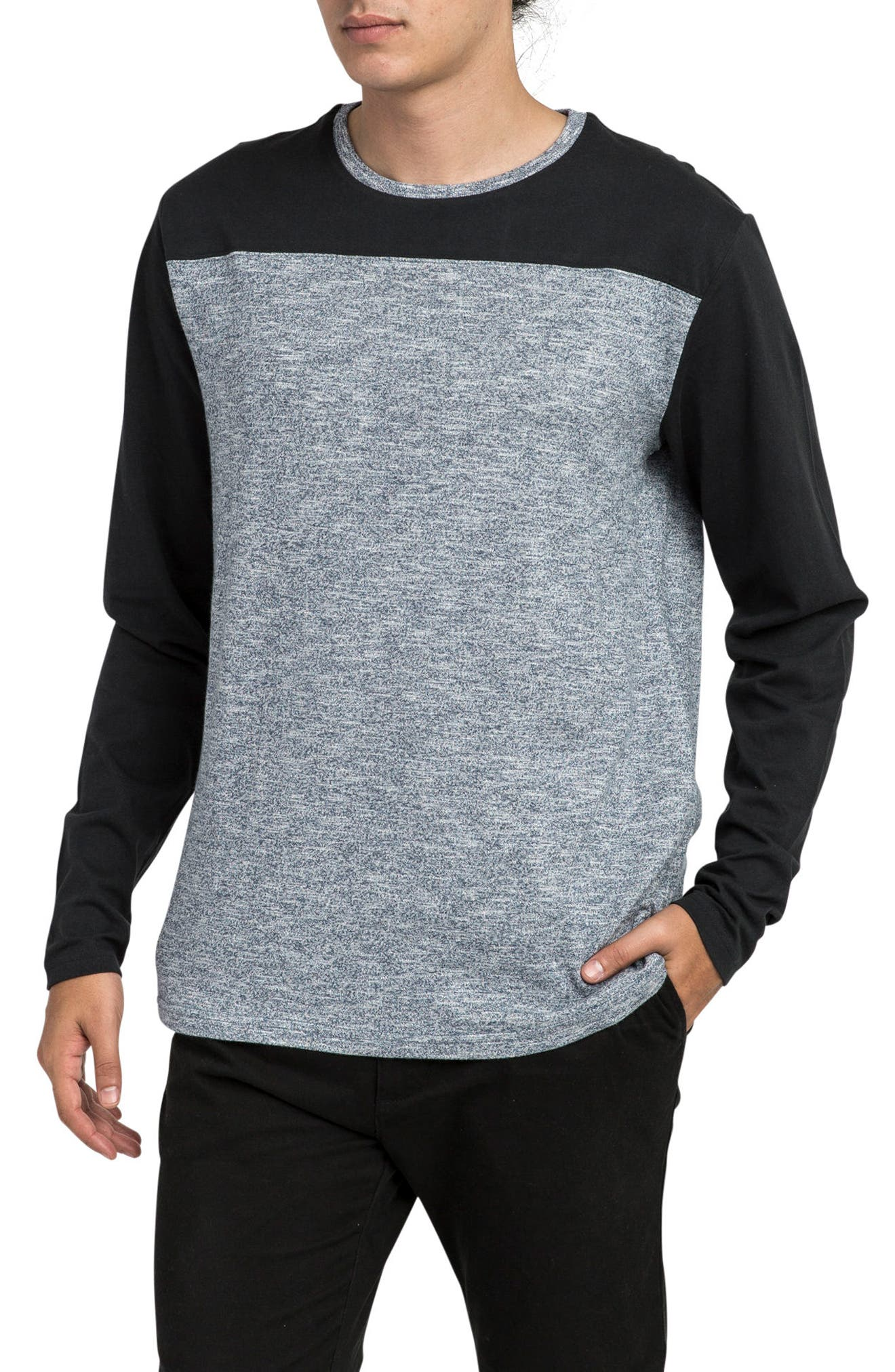 Coast to Coast Colorblock T-Shirt,                             Alternate thumbnail 3, color,                             Black